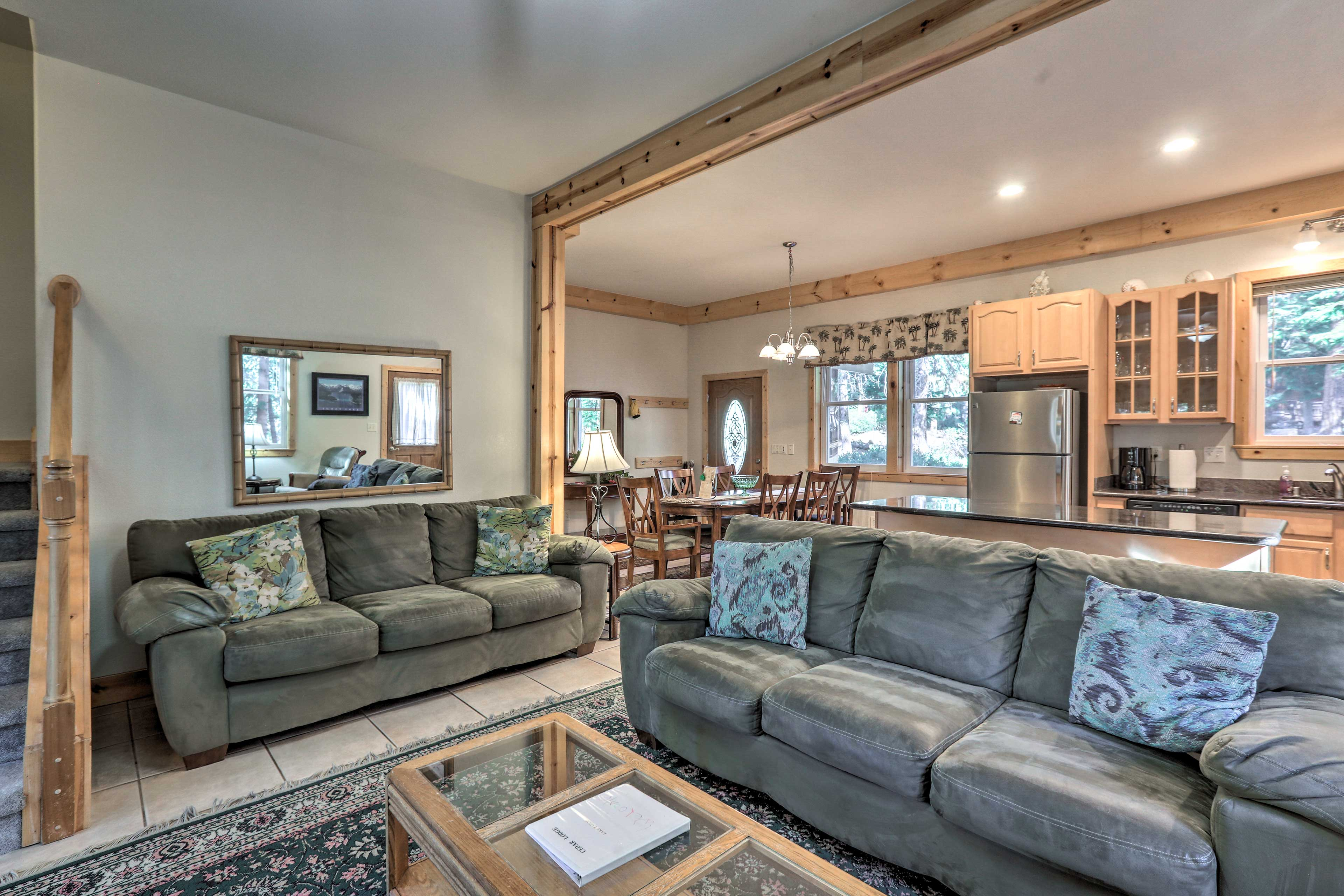 You'll love the open-concept layout of the unit.