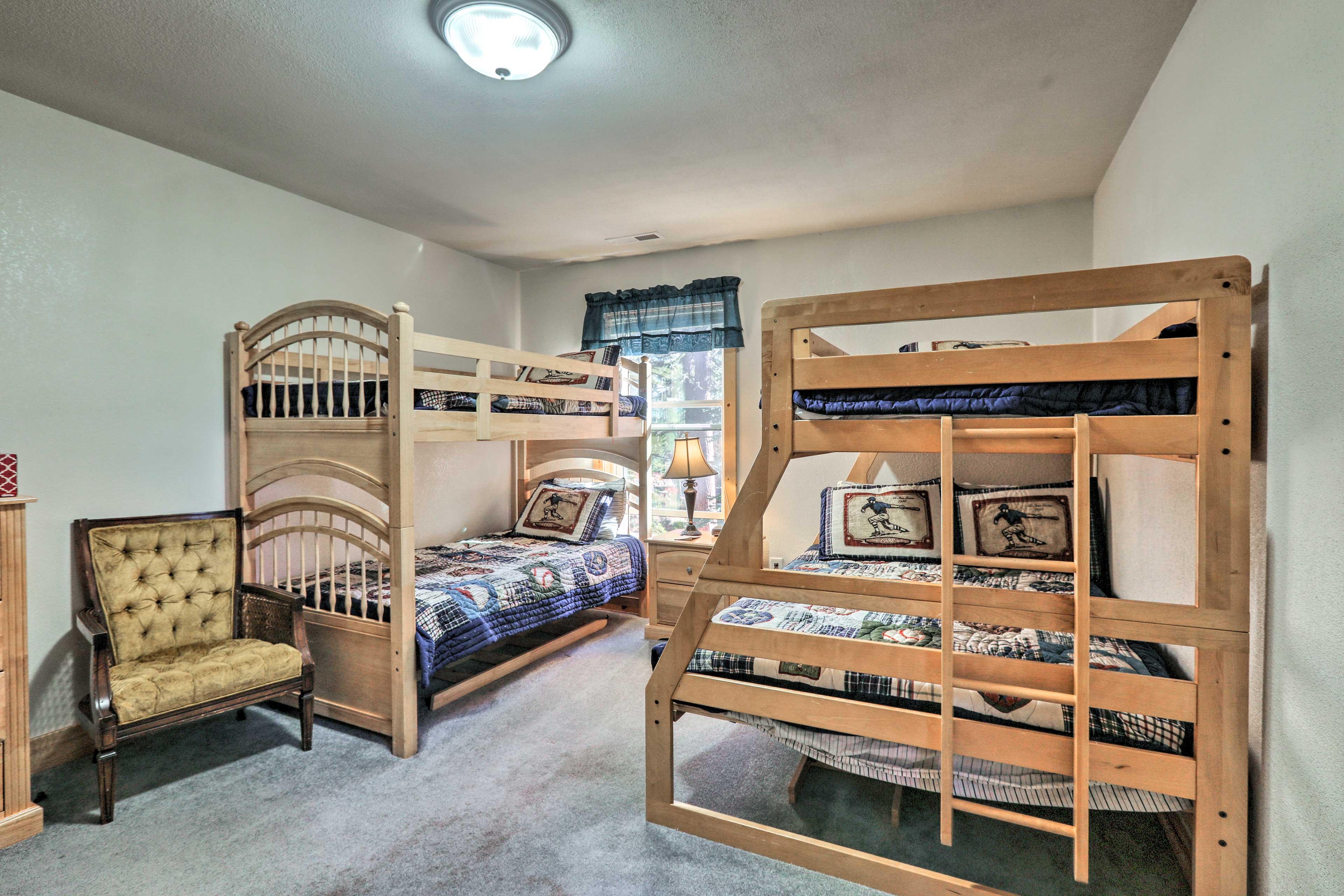 Kids love the third bunk room!