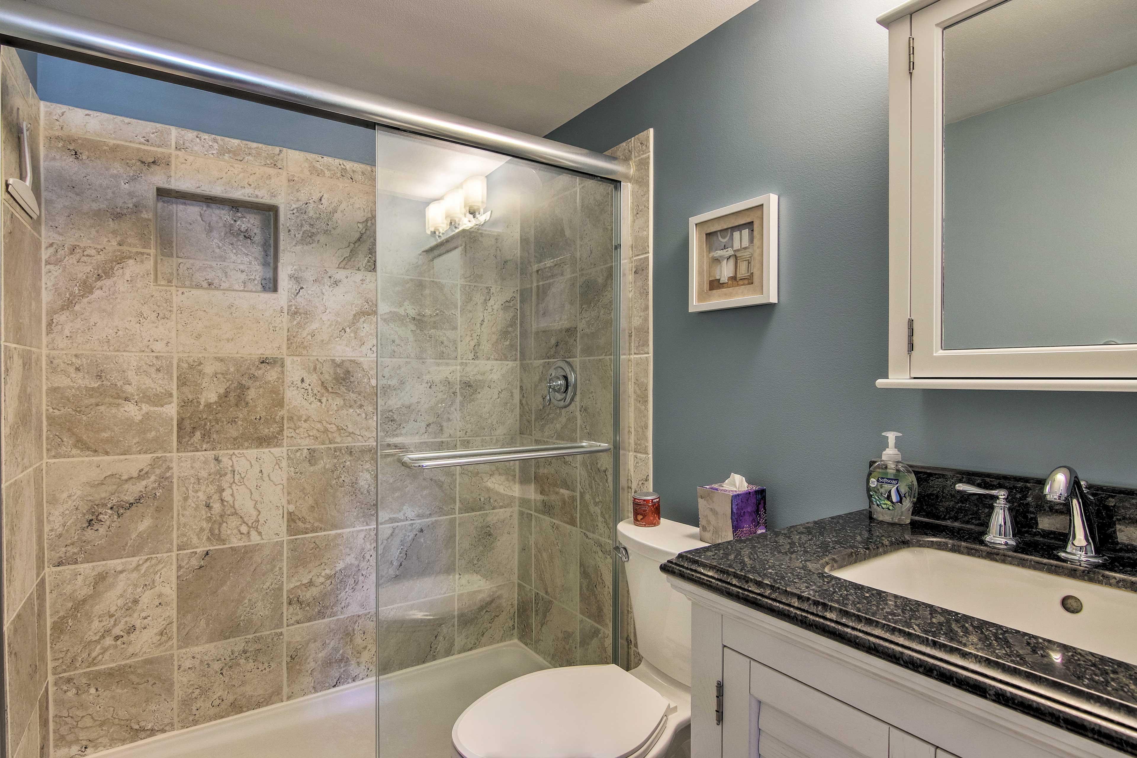 The master bedroom features a private en-suite bathroom.