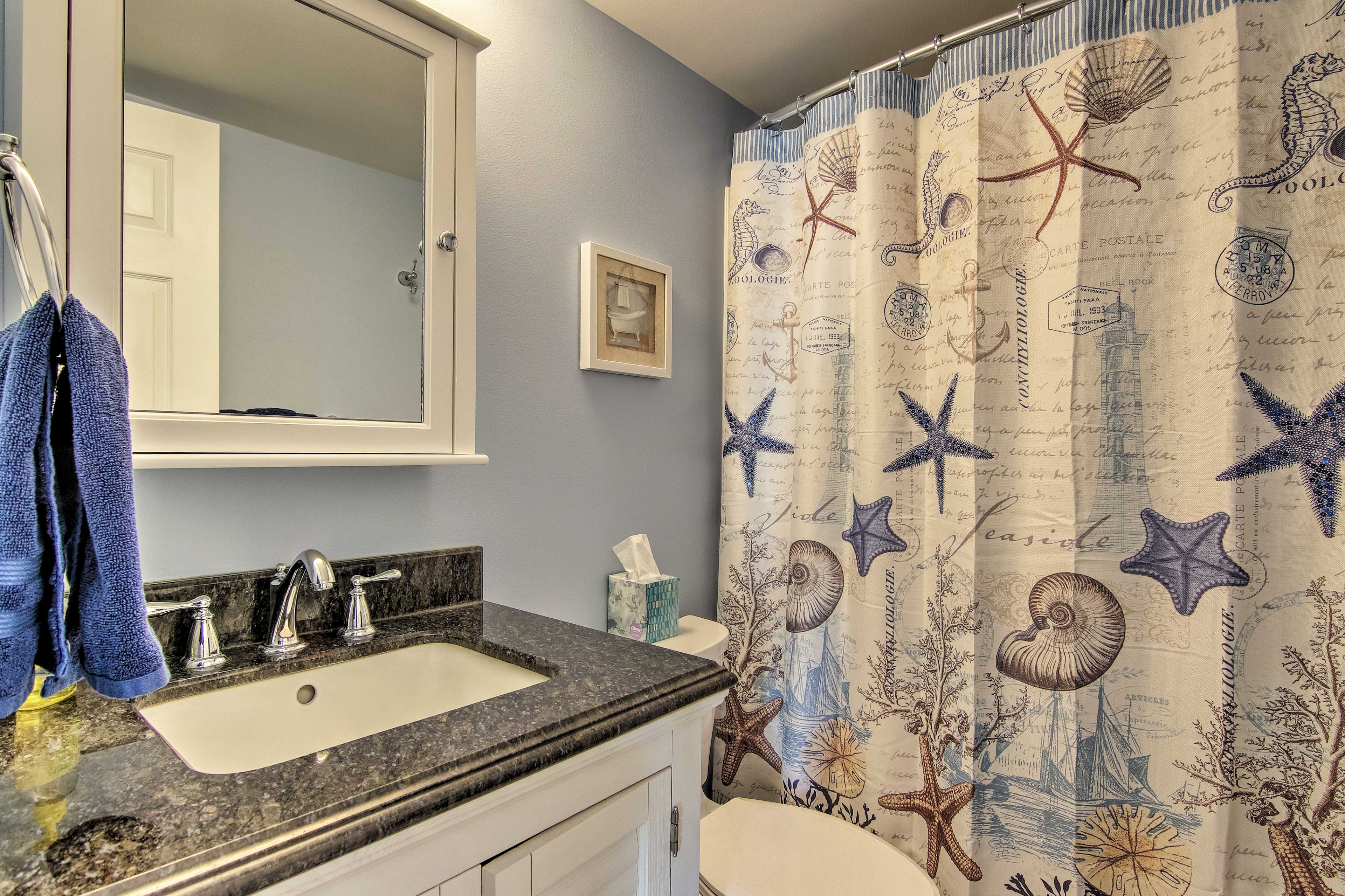 Choose between a shower or bath in the shower/bath combo.