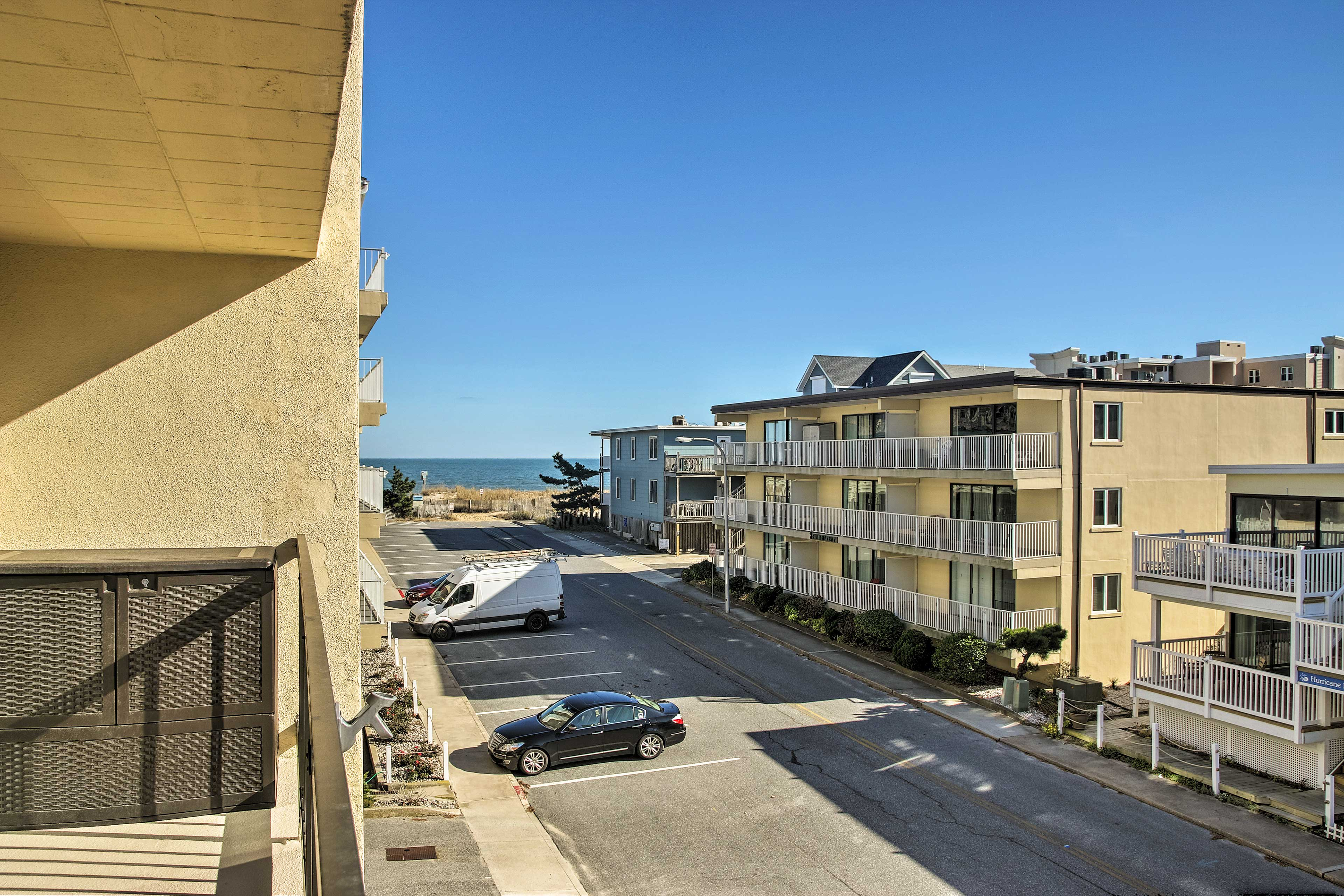 The condo lies just steps from Ocean City's beach!