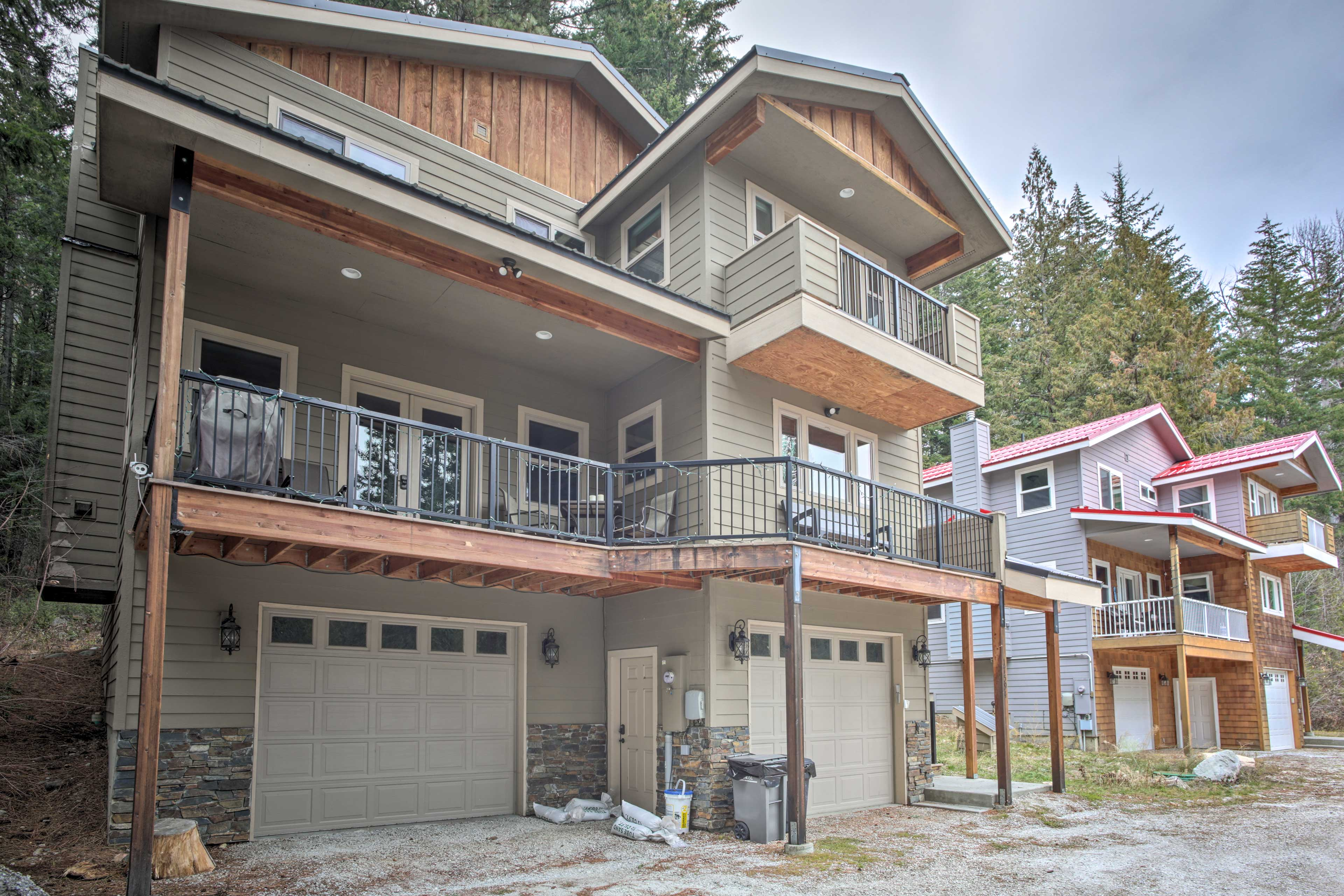 This spacious home offers several balconies and outdoor spaces.