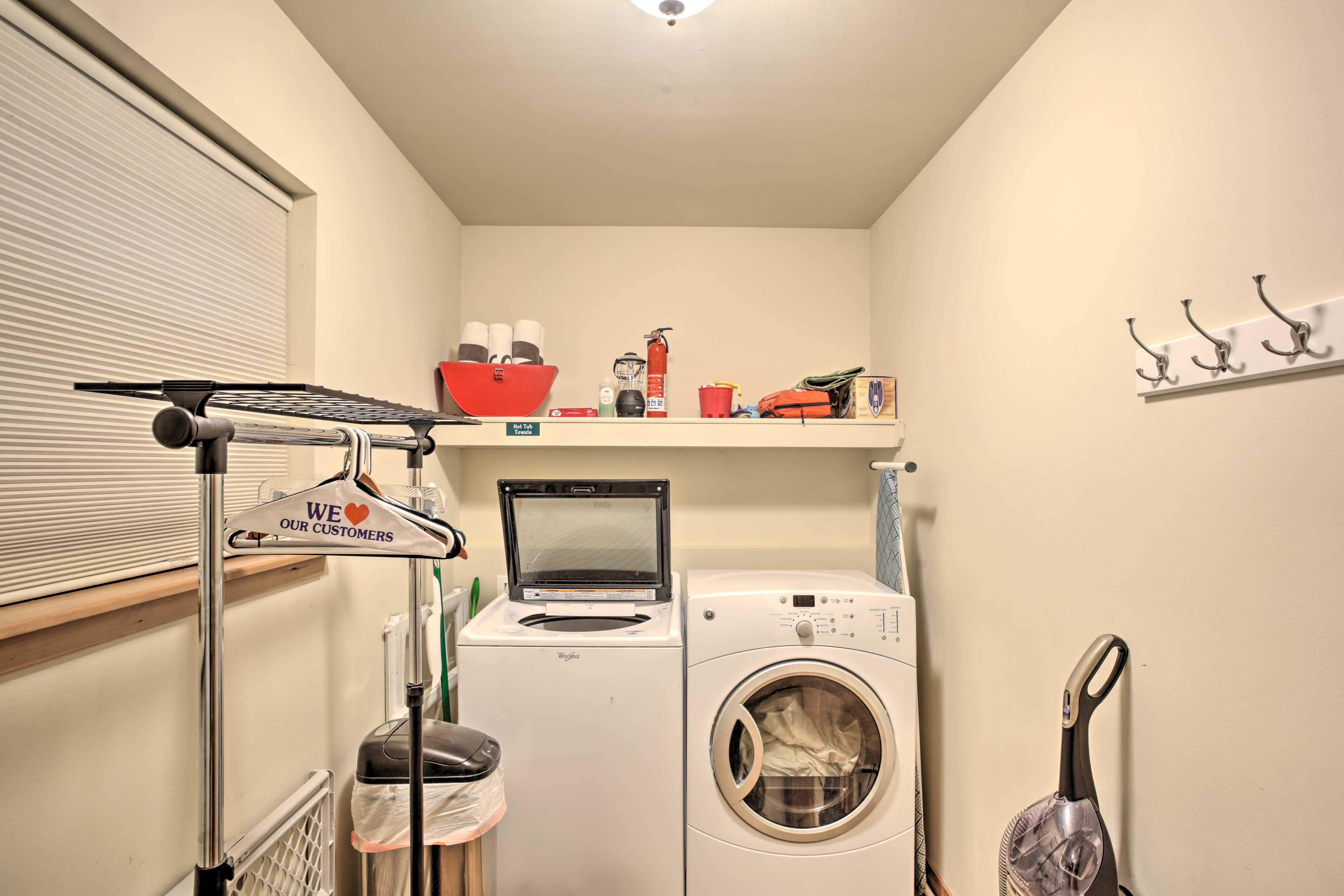 Wash your clothes in the in-unit laundry machines.