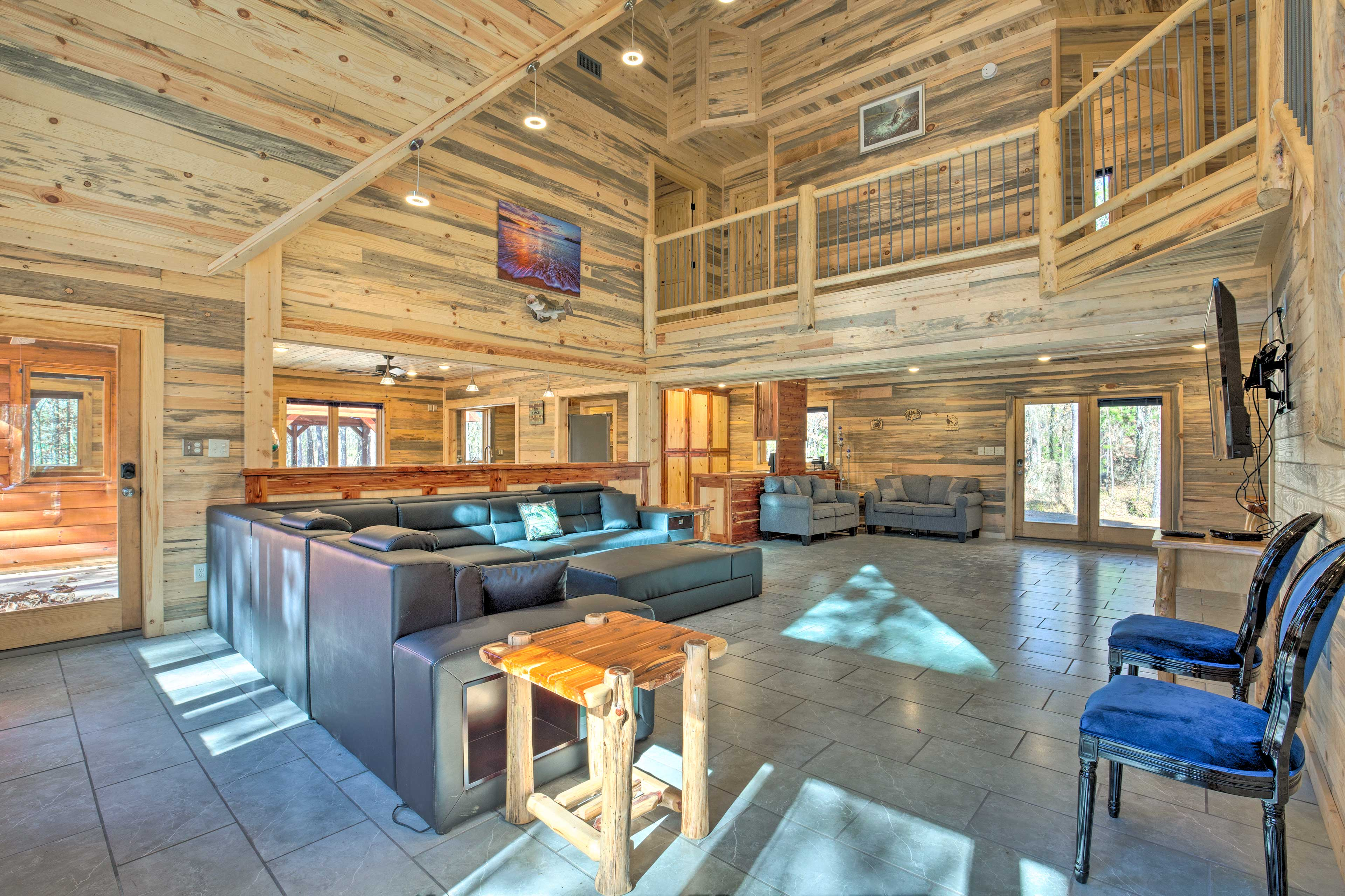 There is more than 2,990 square feet of interior space to kick back in.