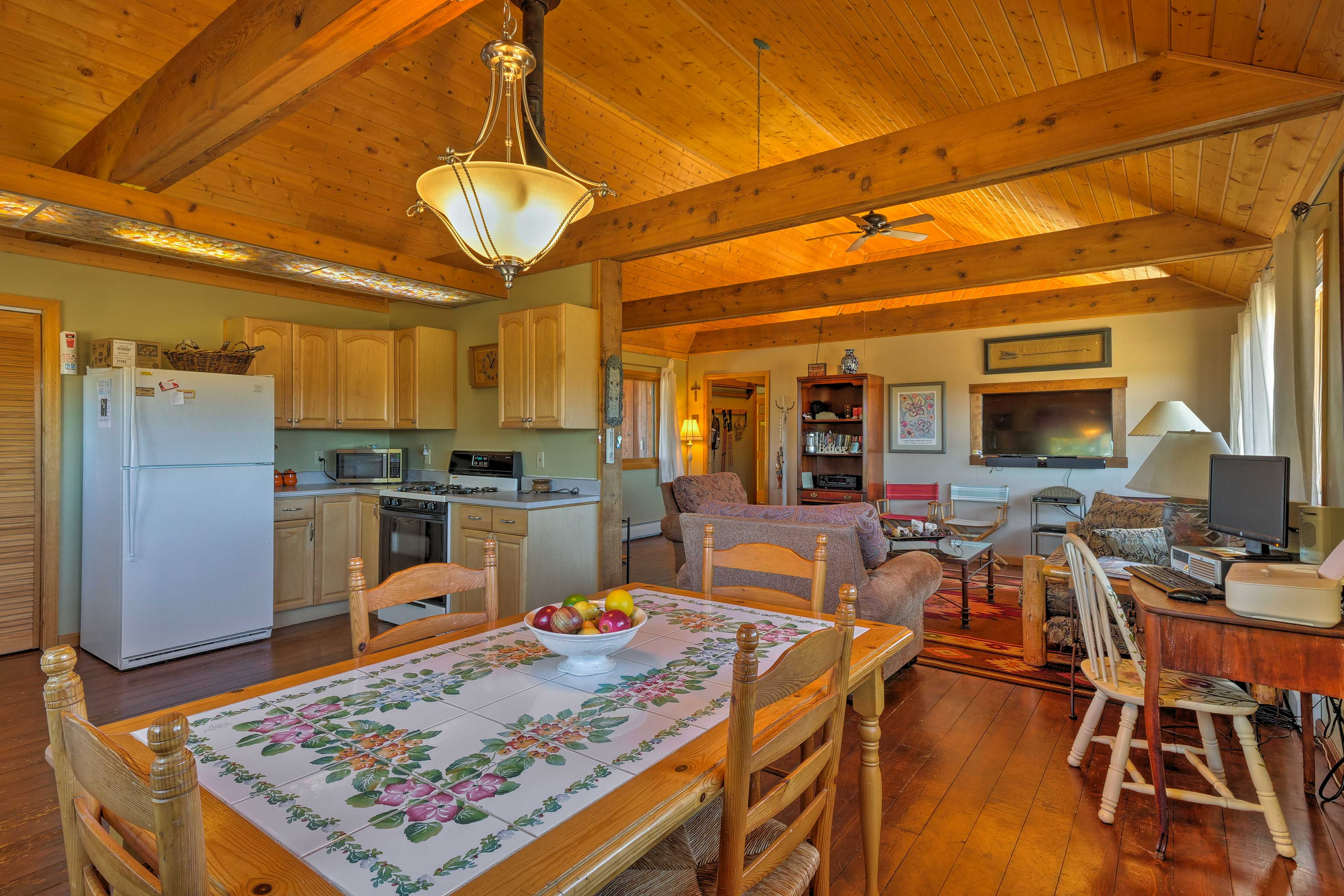 You'll love the cabin's beautifully appointed interior.