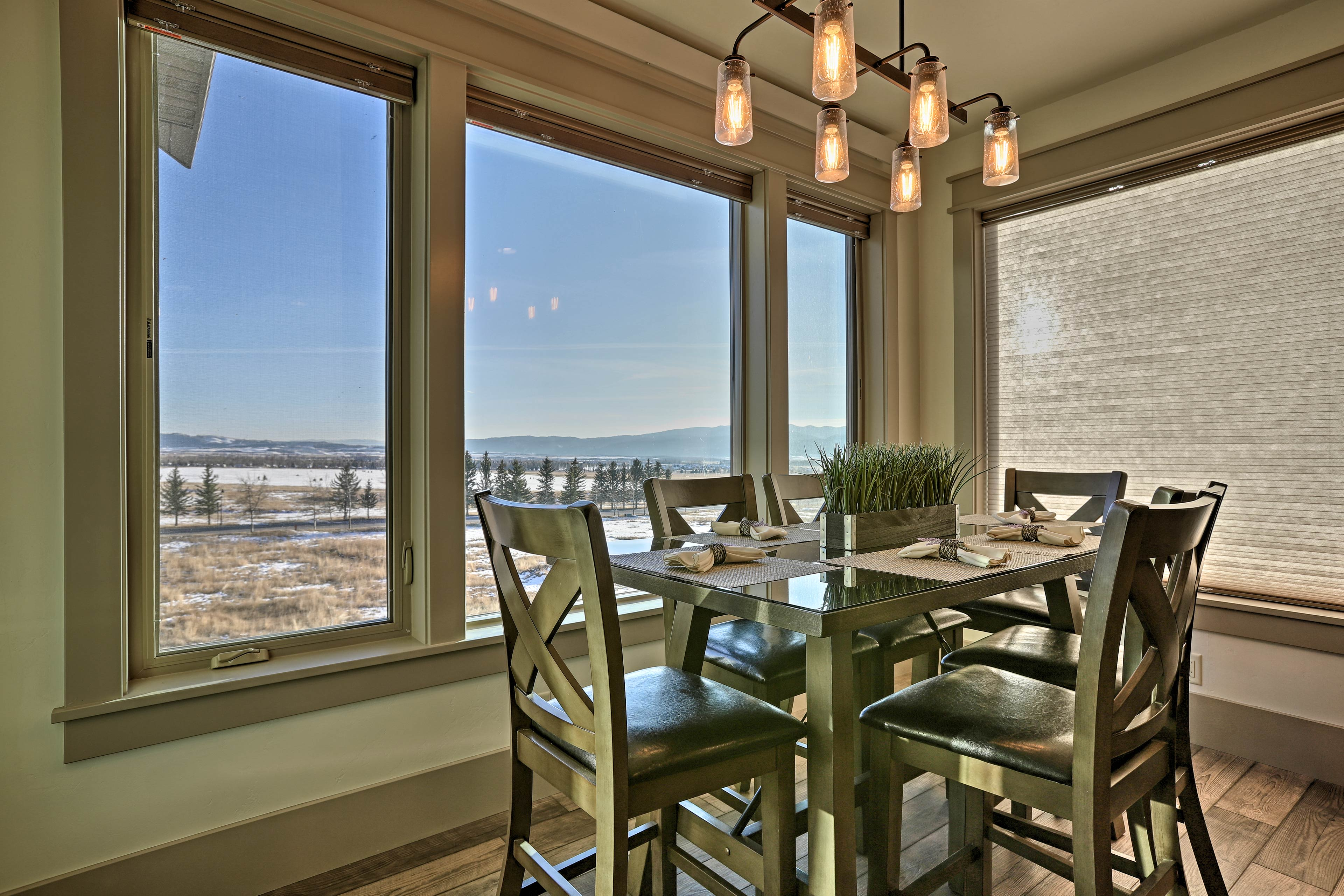 Taste the chef's creations while relishing the home's stunning views.