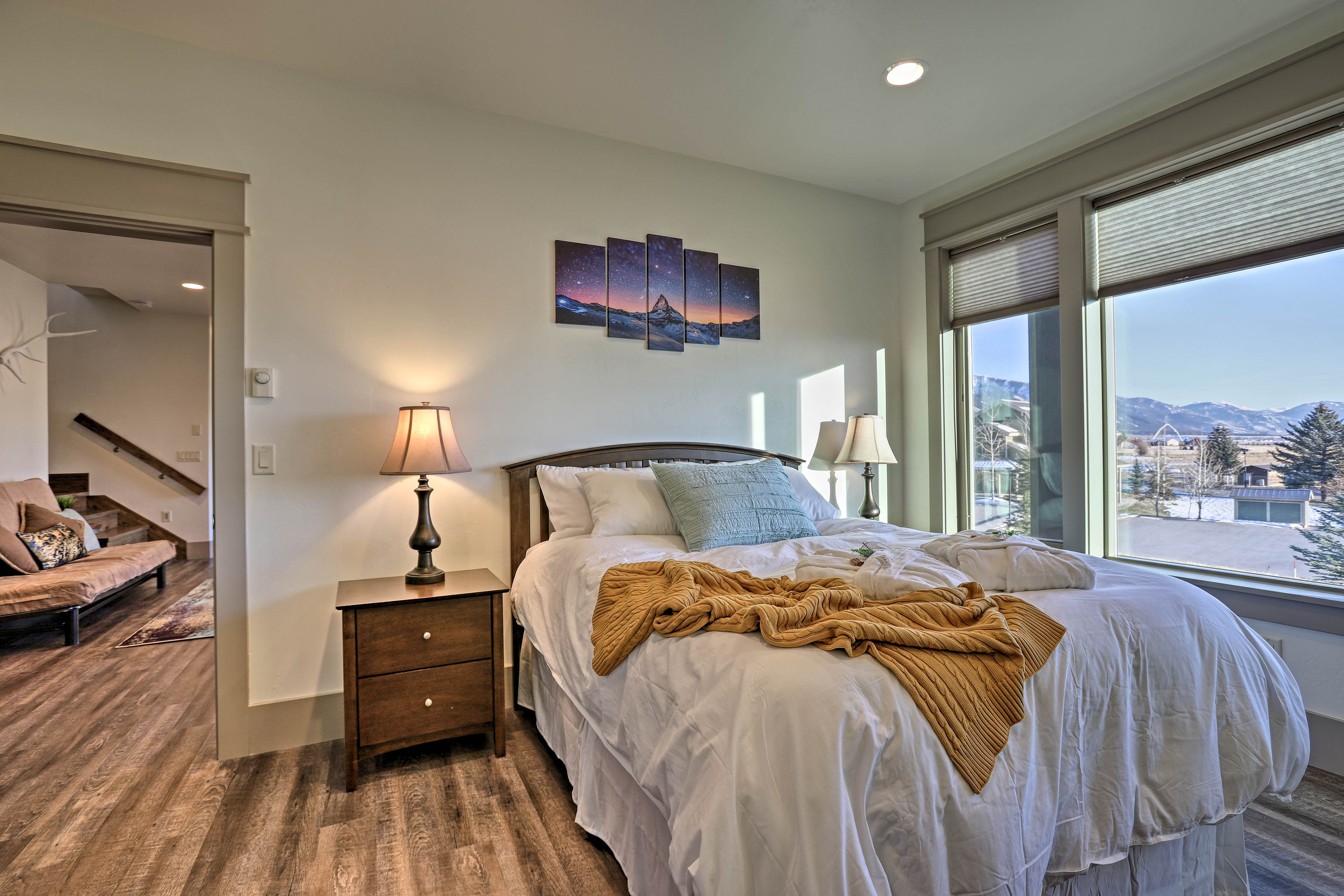 You'll find a comfy queen bed in the fourth bedroom as well.