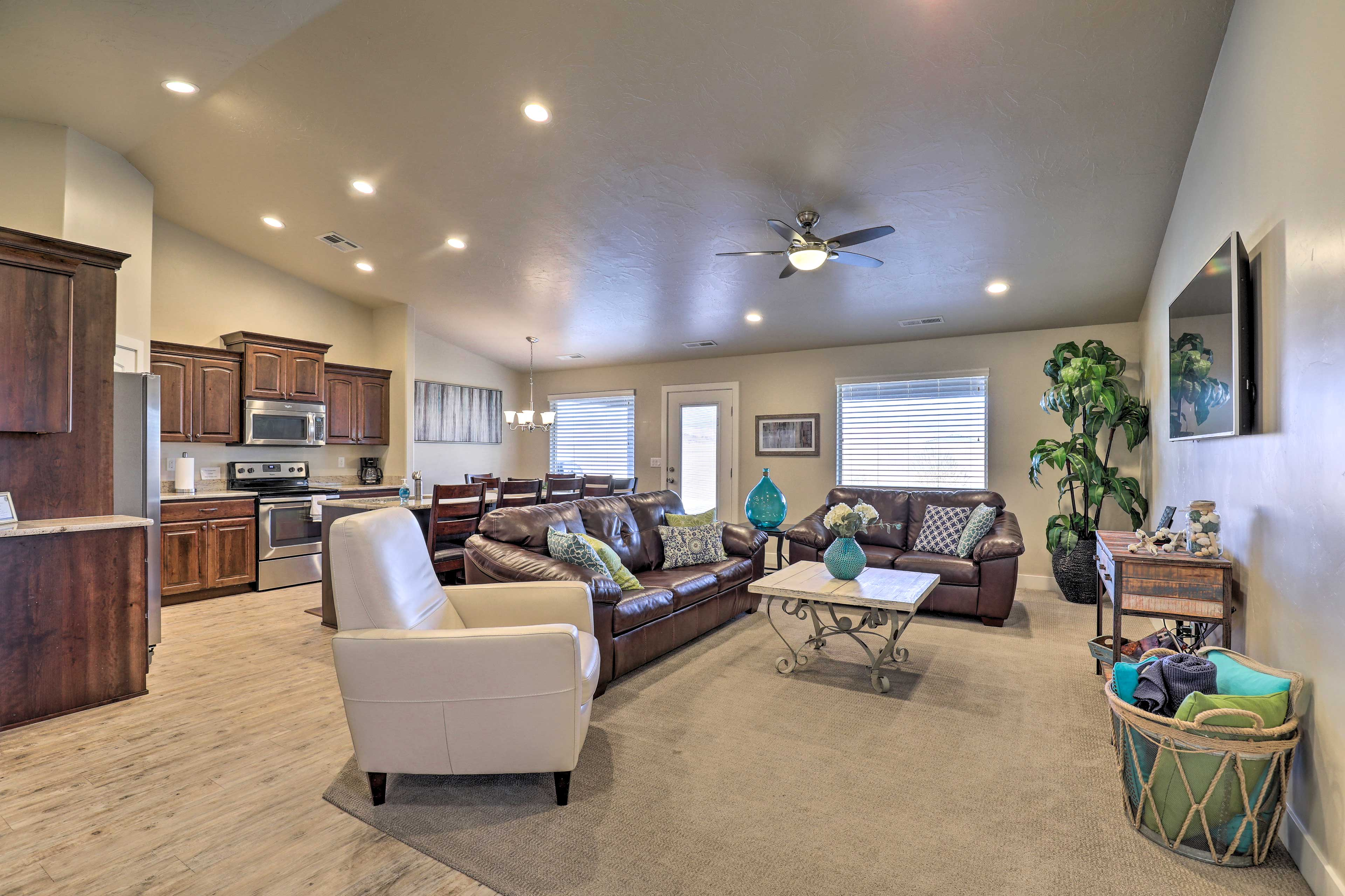 The interior offers over 1,800 square feet of living space.