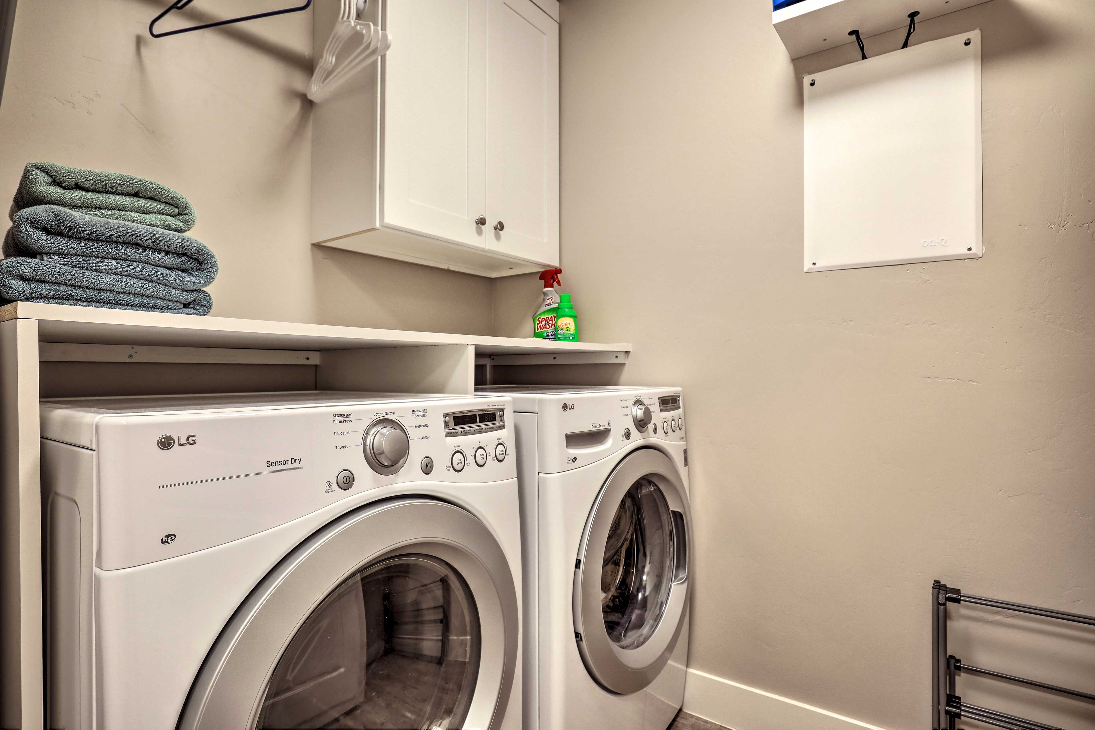 In-unit laundry will keep your clothes fresh.