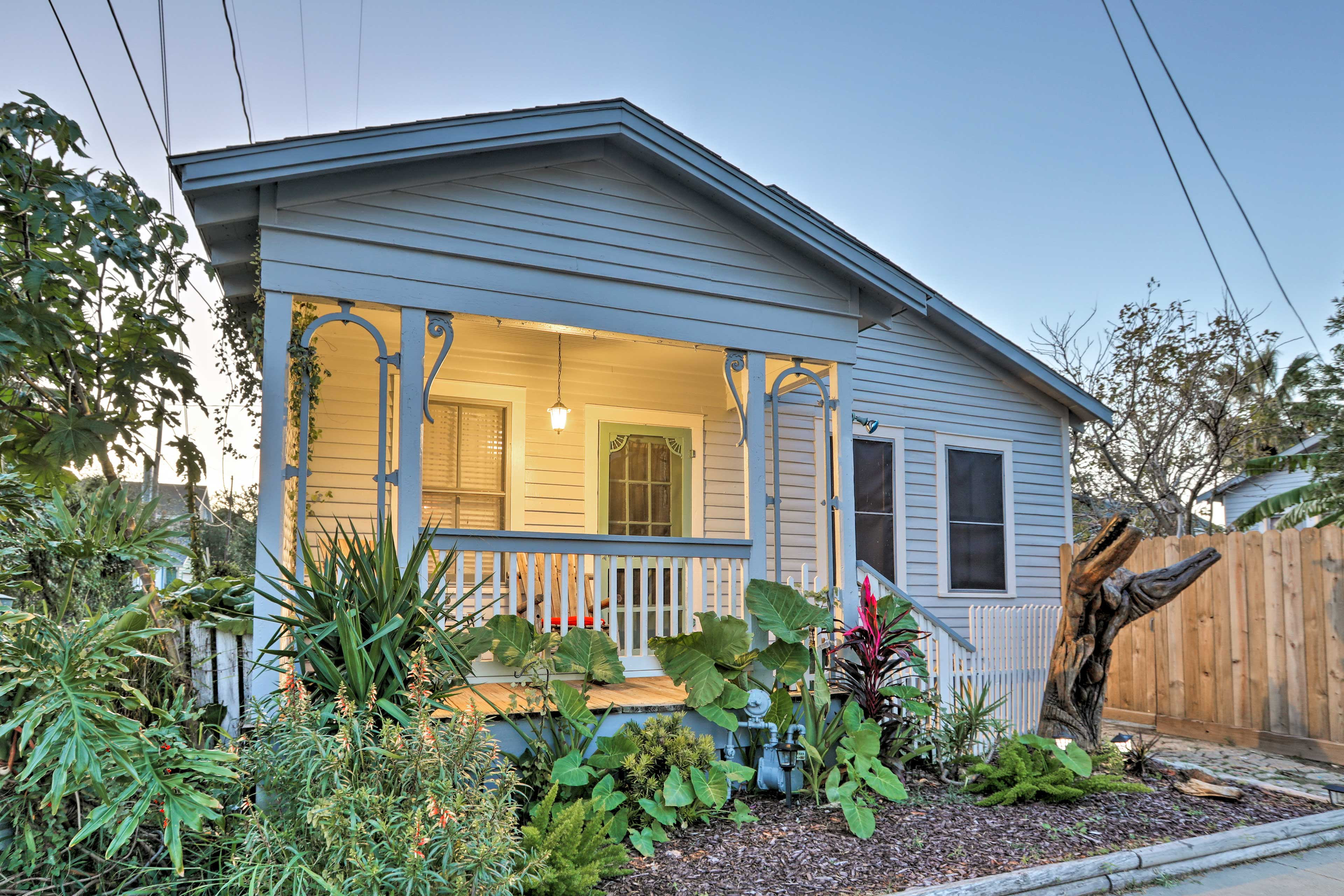 This prime vacation rental home sits in the East End Historical District.