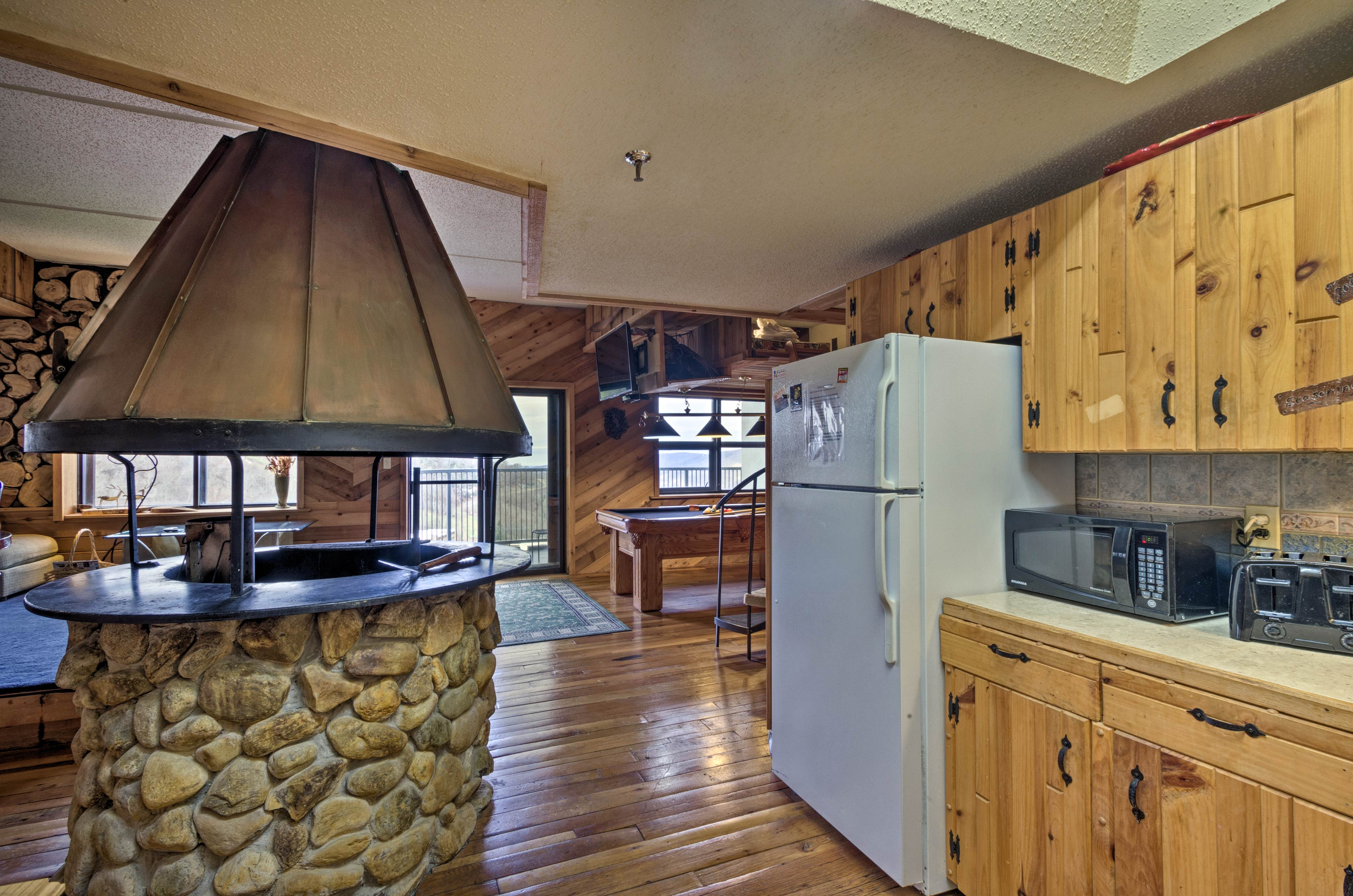The kitchen is fully equipped to handle all of your needs.