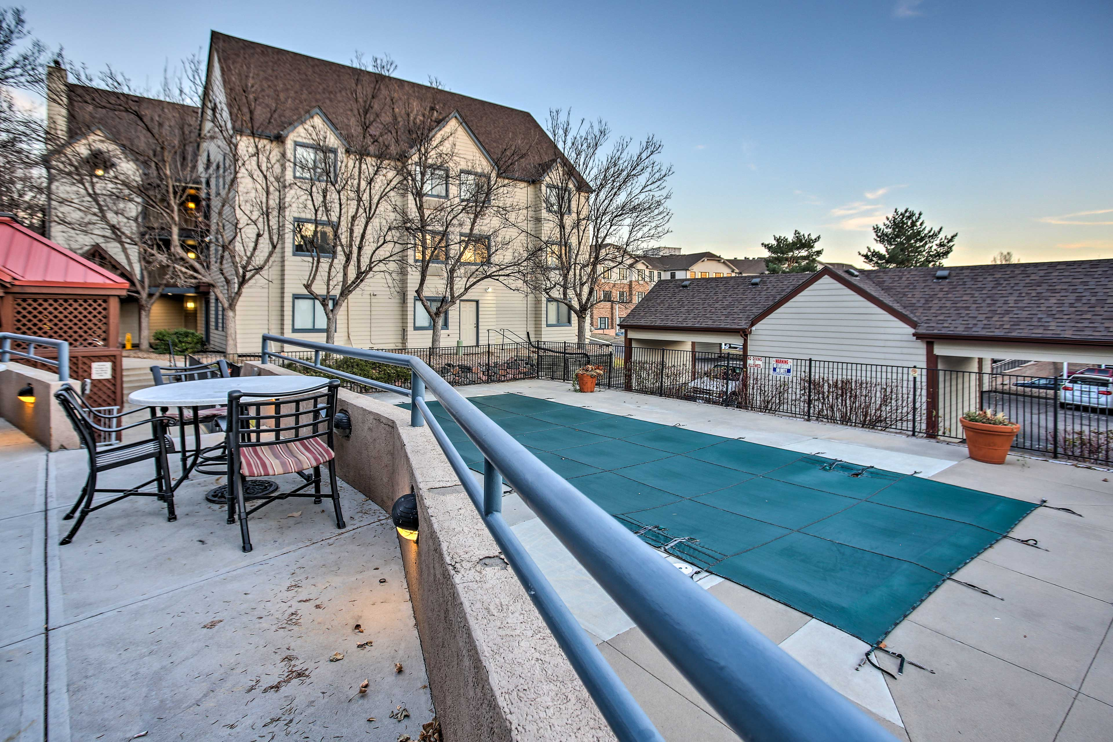 When the weather's right, take advantage of the on-site pool!