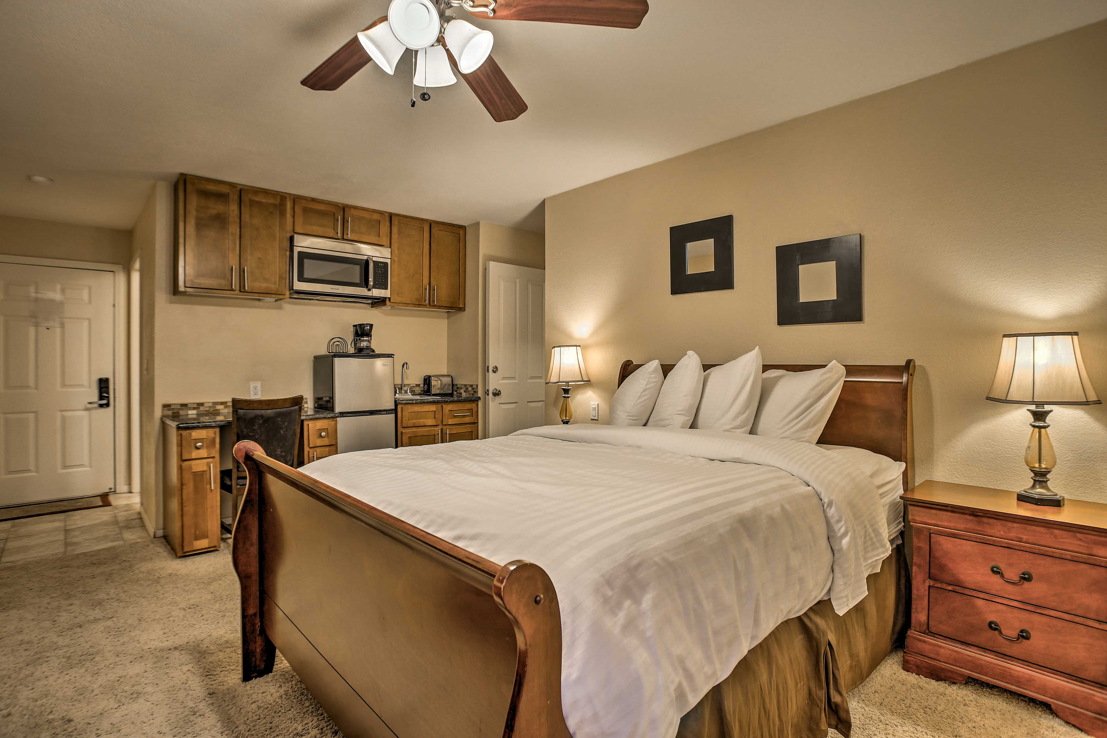 The second master bedroom will feel more like your very own studio.