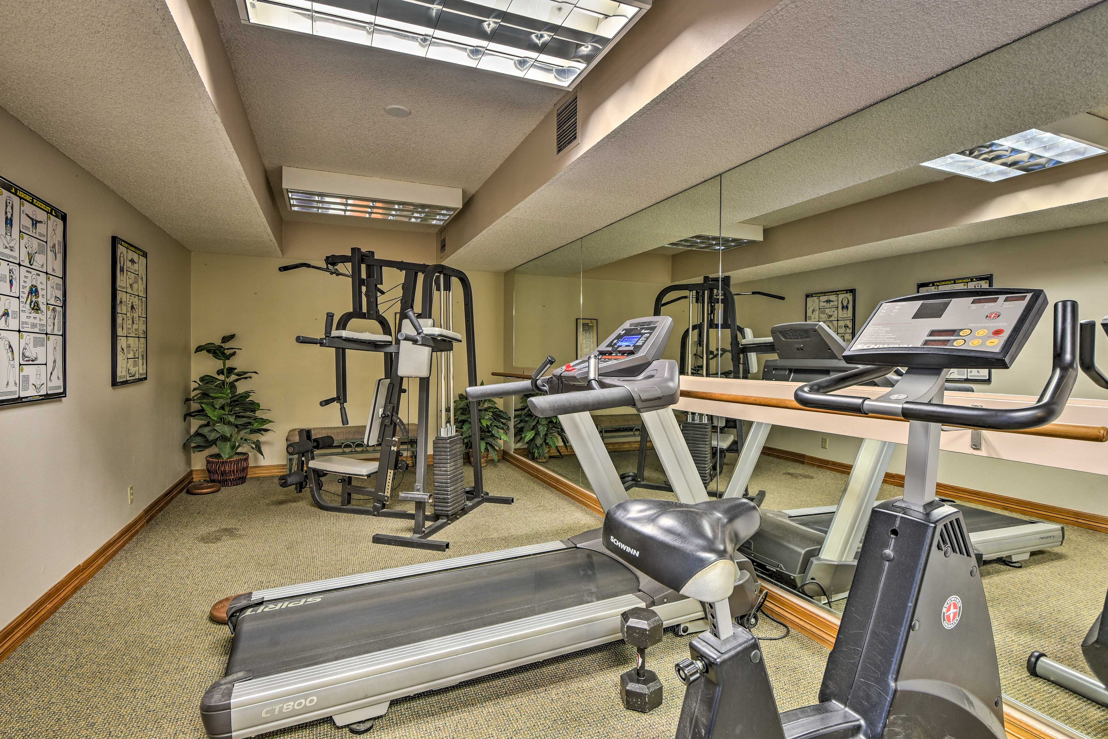 Blow off some steam in the fitness center.