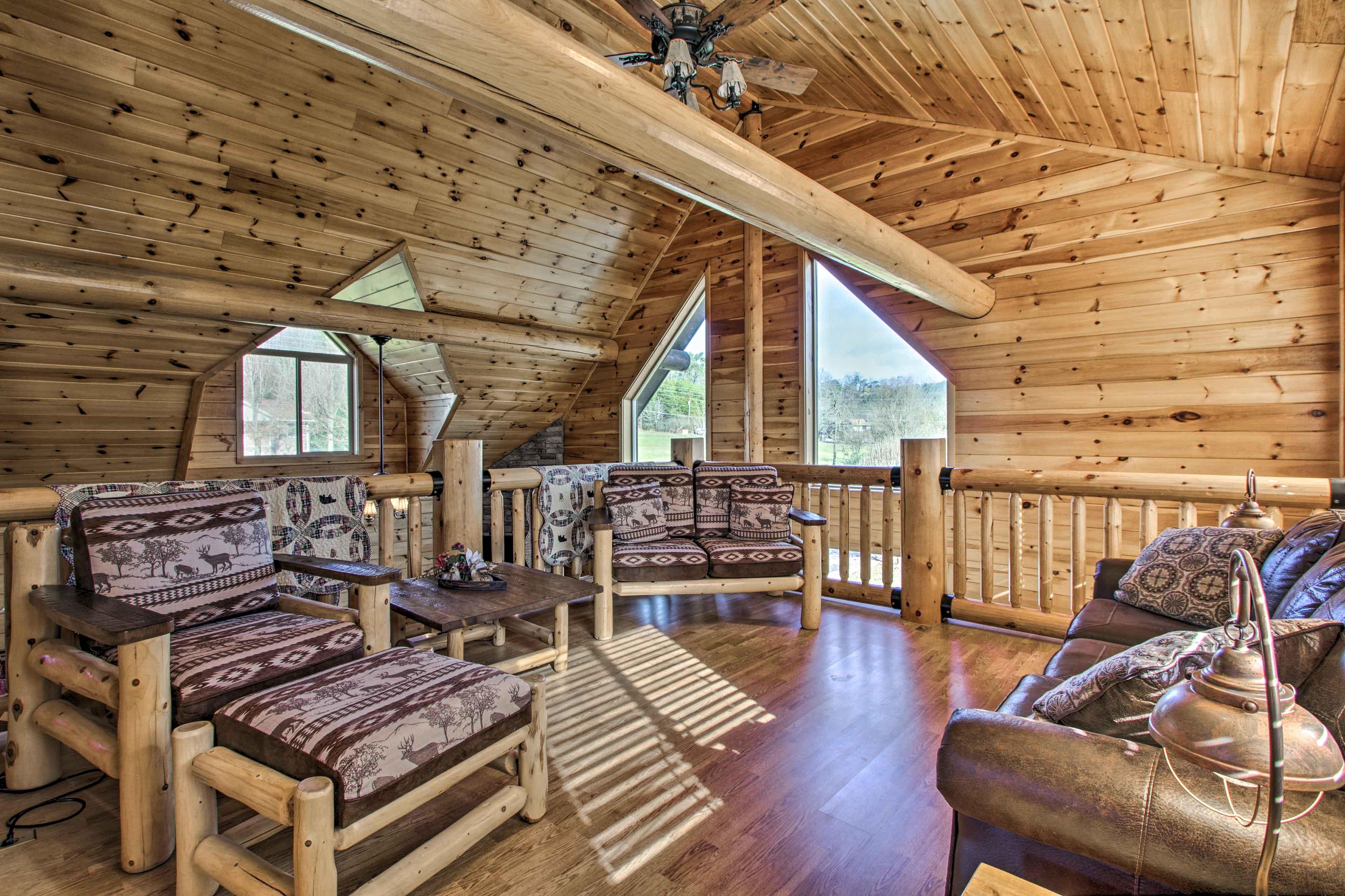 High ceilings soar over this spacious loft!