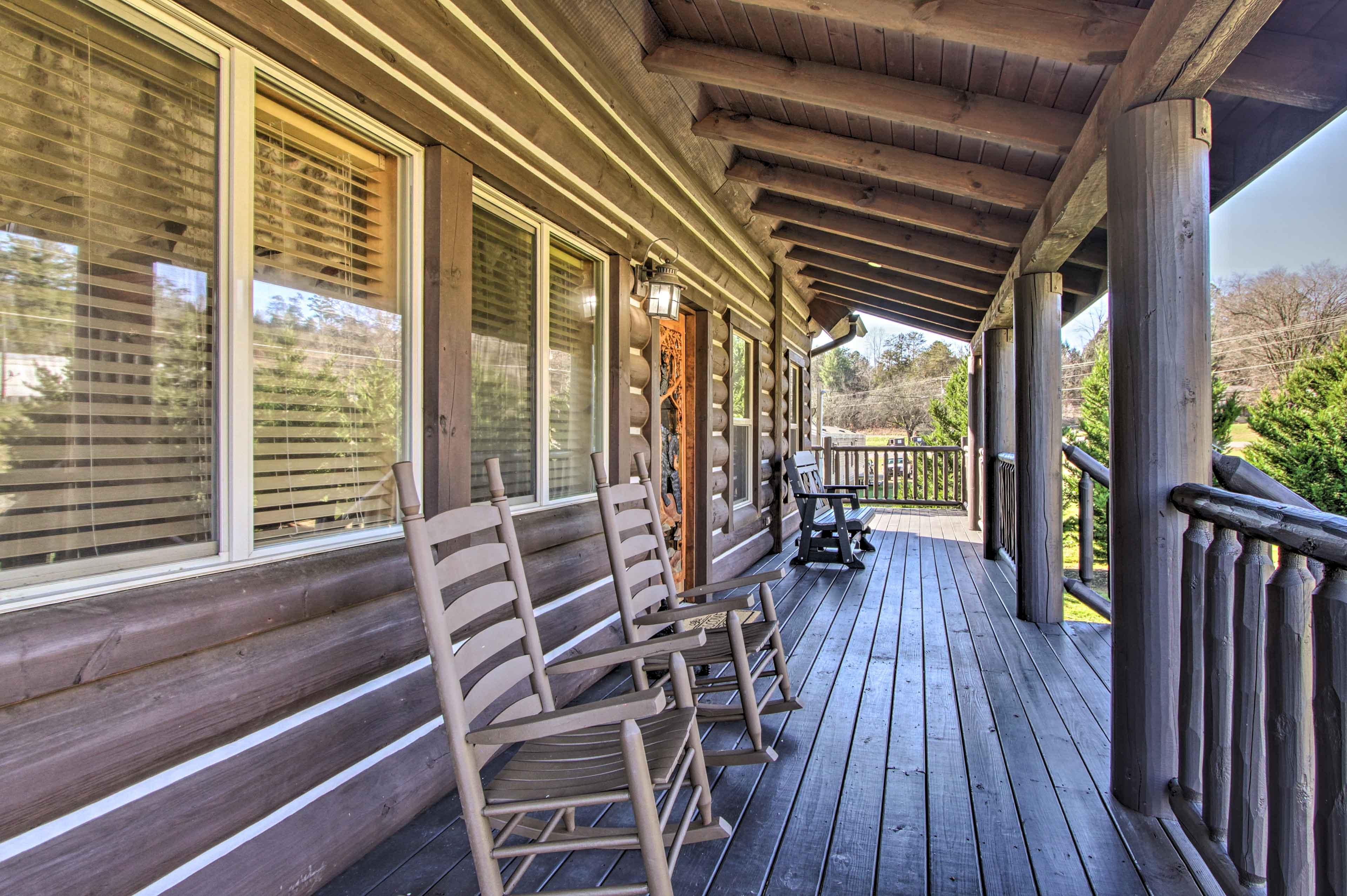 Spend slow mornings rocking away on the wraparound porch.