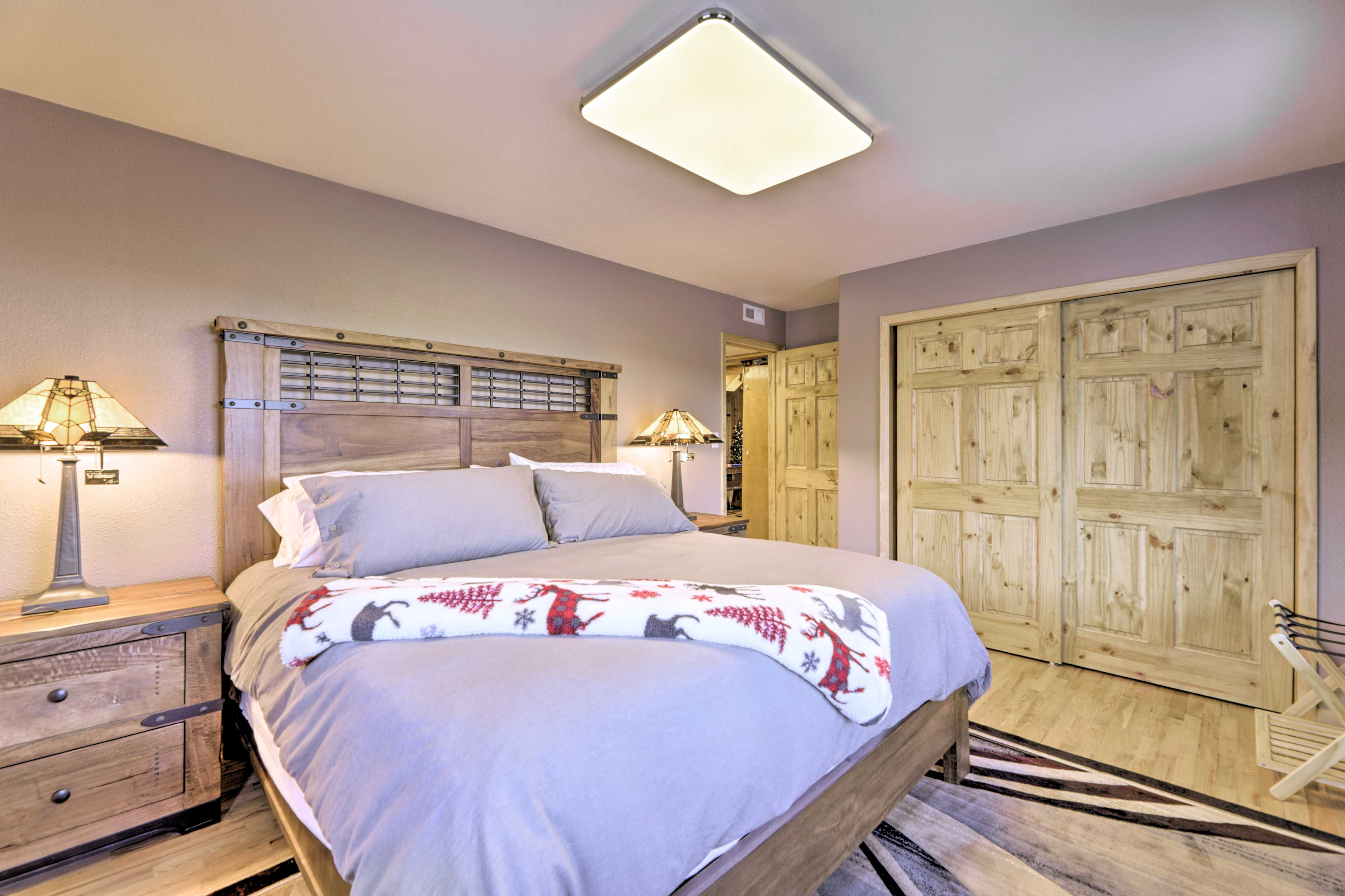 The second bedroom also features a king bed.