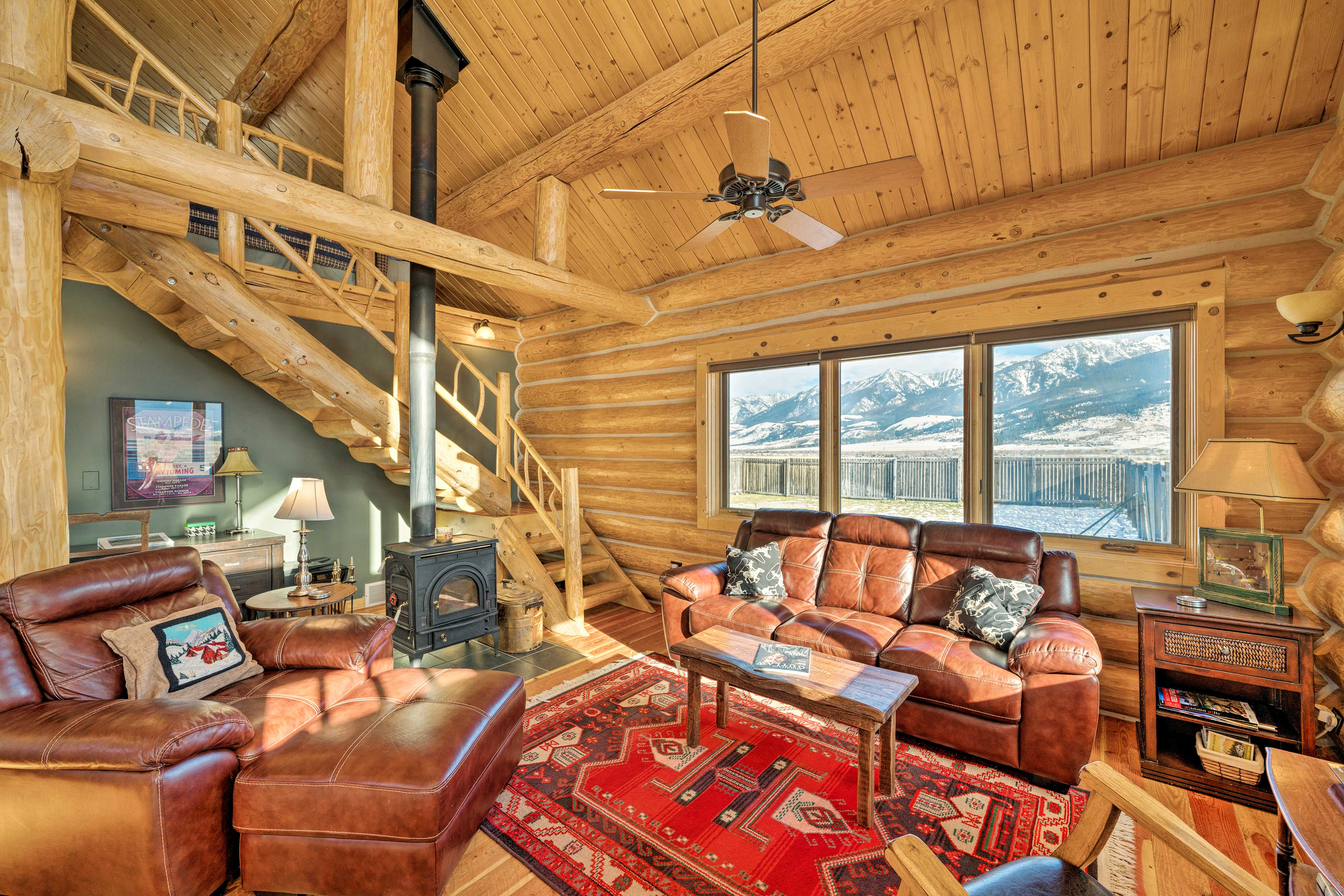 This rustic interior features 1 bedroom and 1.5 baths - perfect for 5 guests.