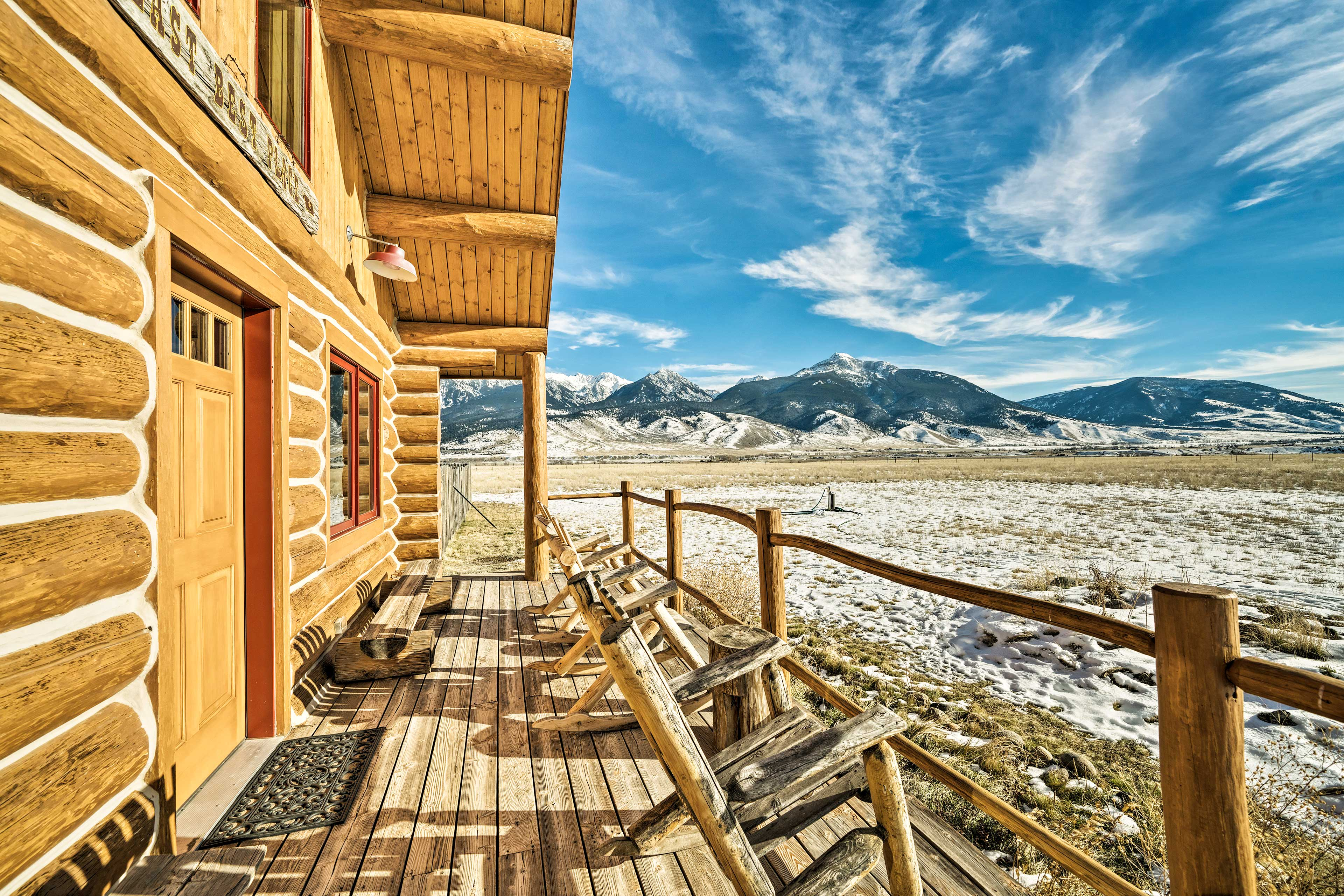 'The Last Best Cabin' is the perfect Yellowstone vacation rental home.
