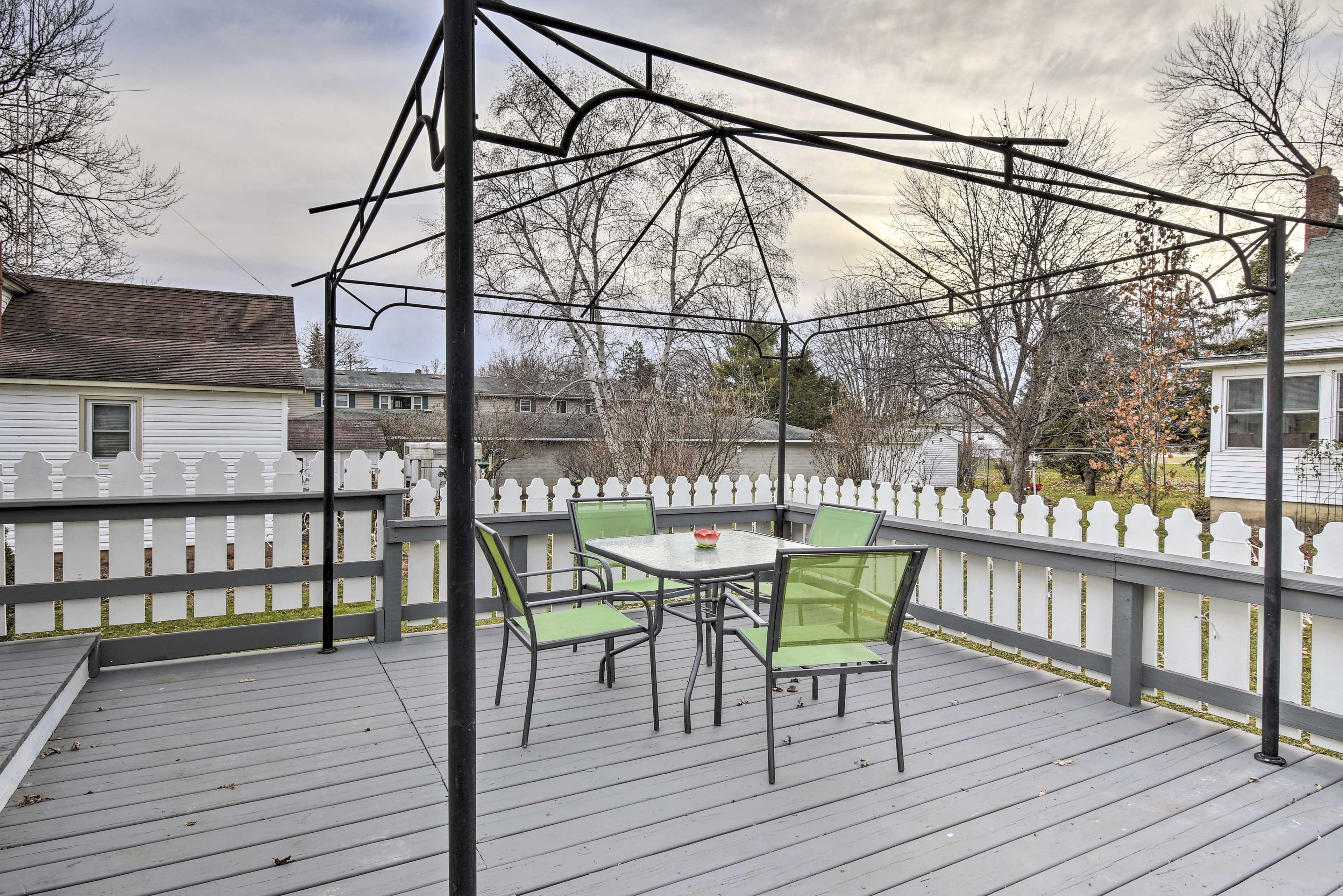 You'll love soaking up the sun on the furnished patio.