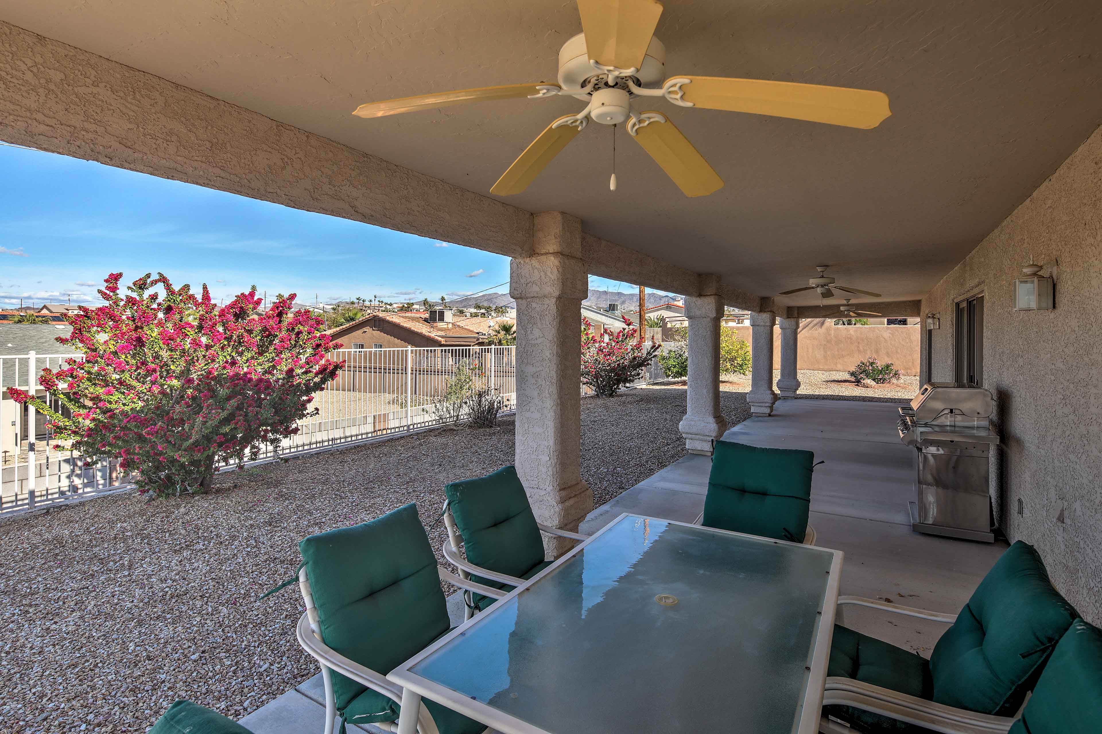 This 3-bed, 2-bath property has space for up to 8 guests.