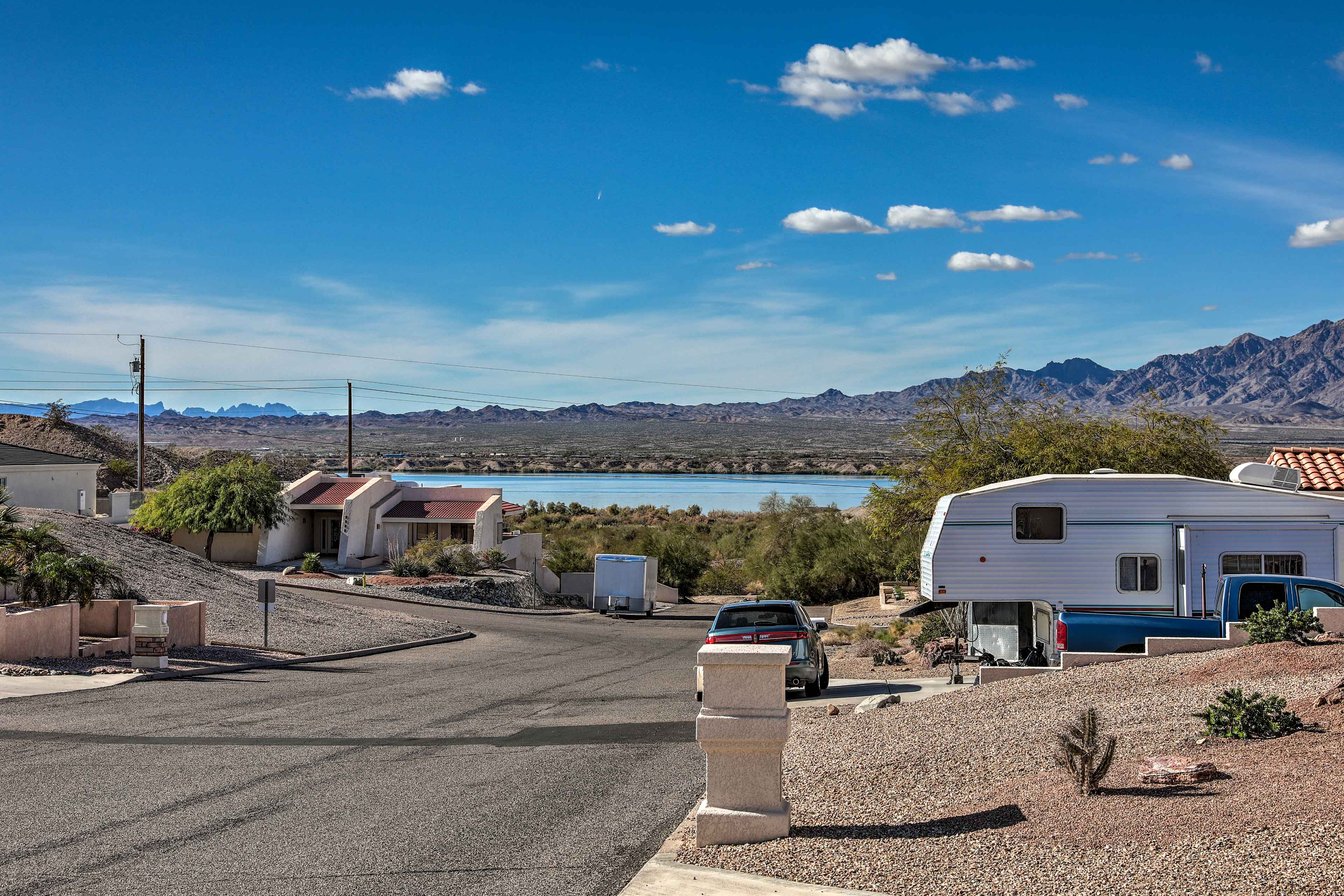 Lake Havasu is less than a mile from the property!