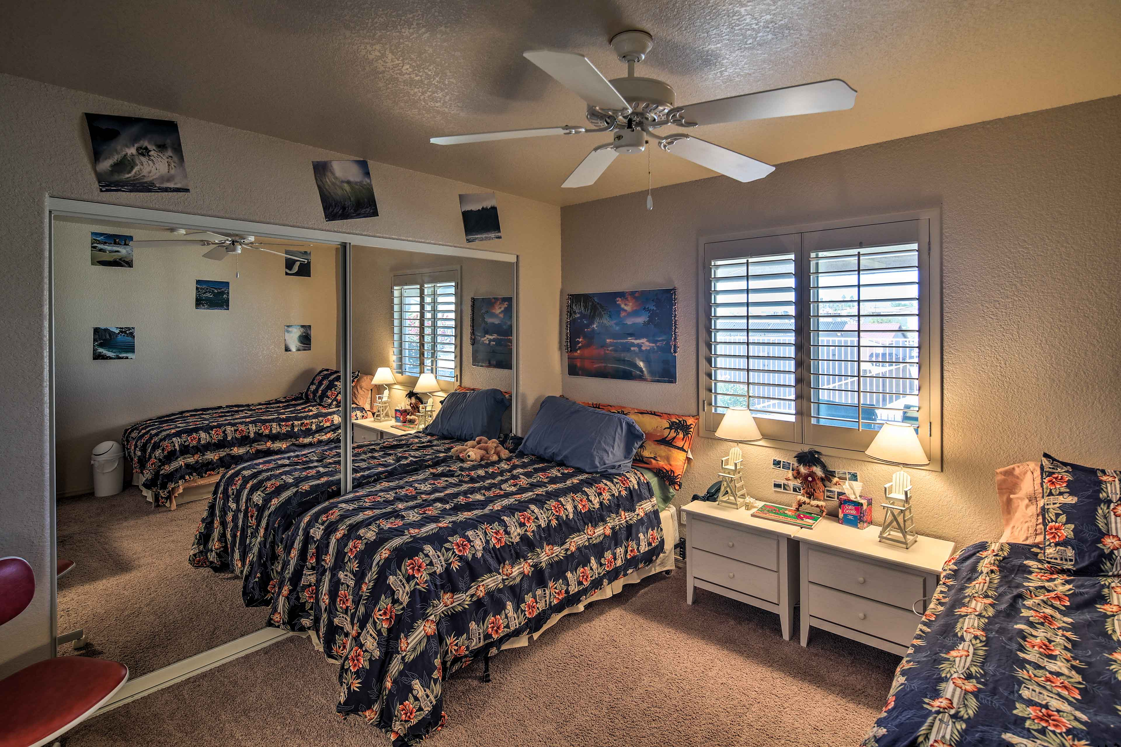 The kiddos can claim this bedroom!