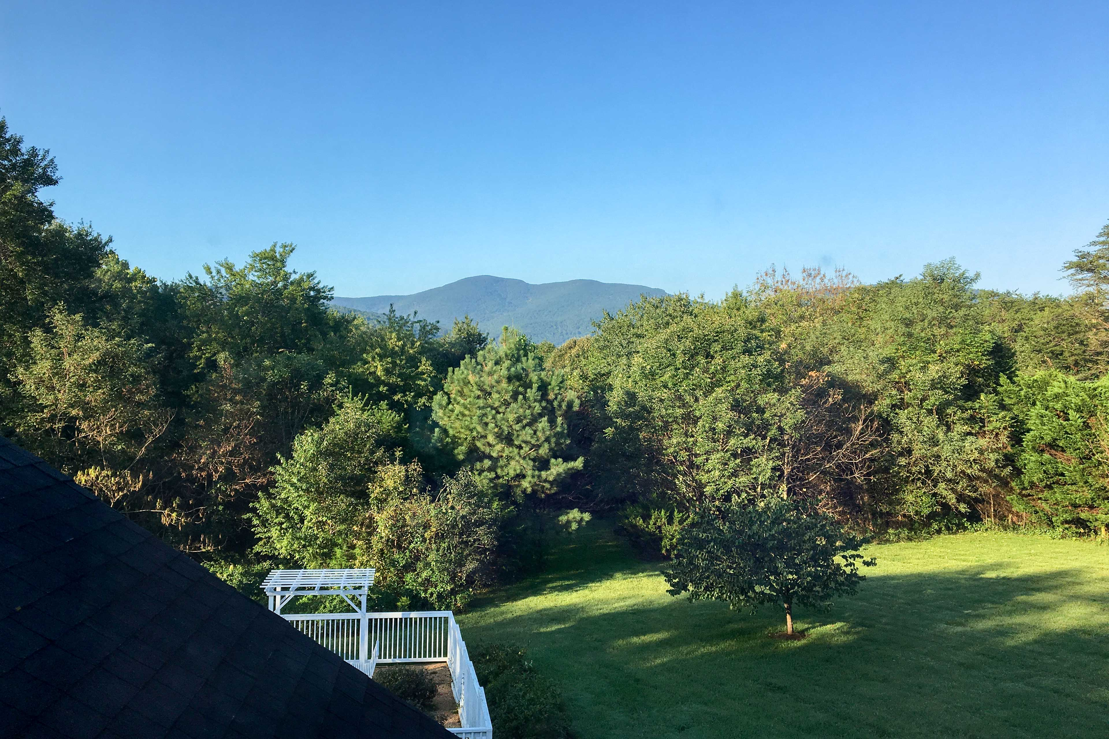 Escape to the scenic Blue Ridge Mountains and stay at this spacious Afton abode.