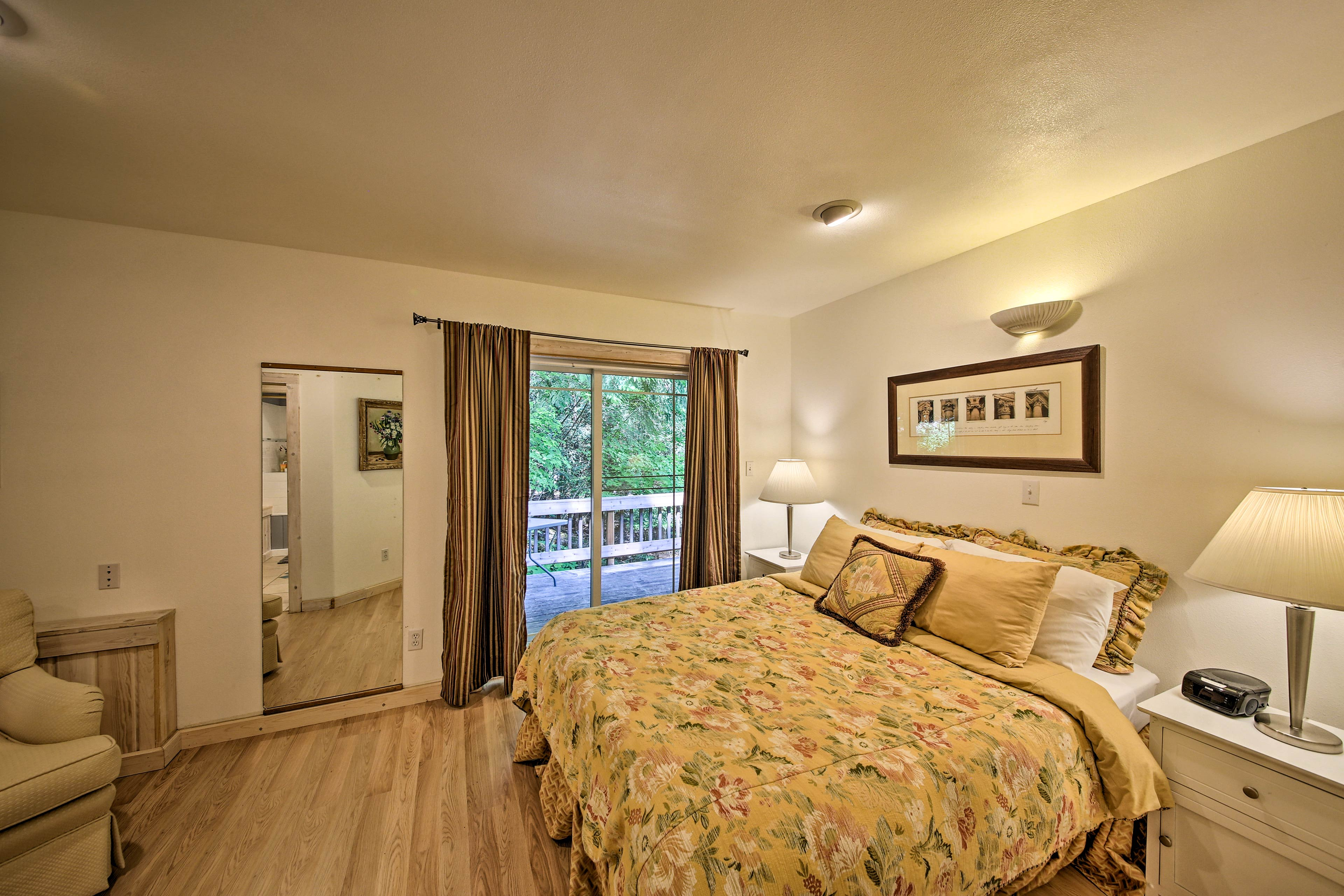 Enjoy deck access from this room.