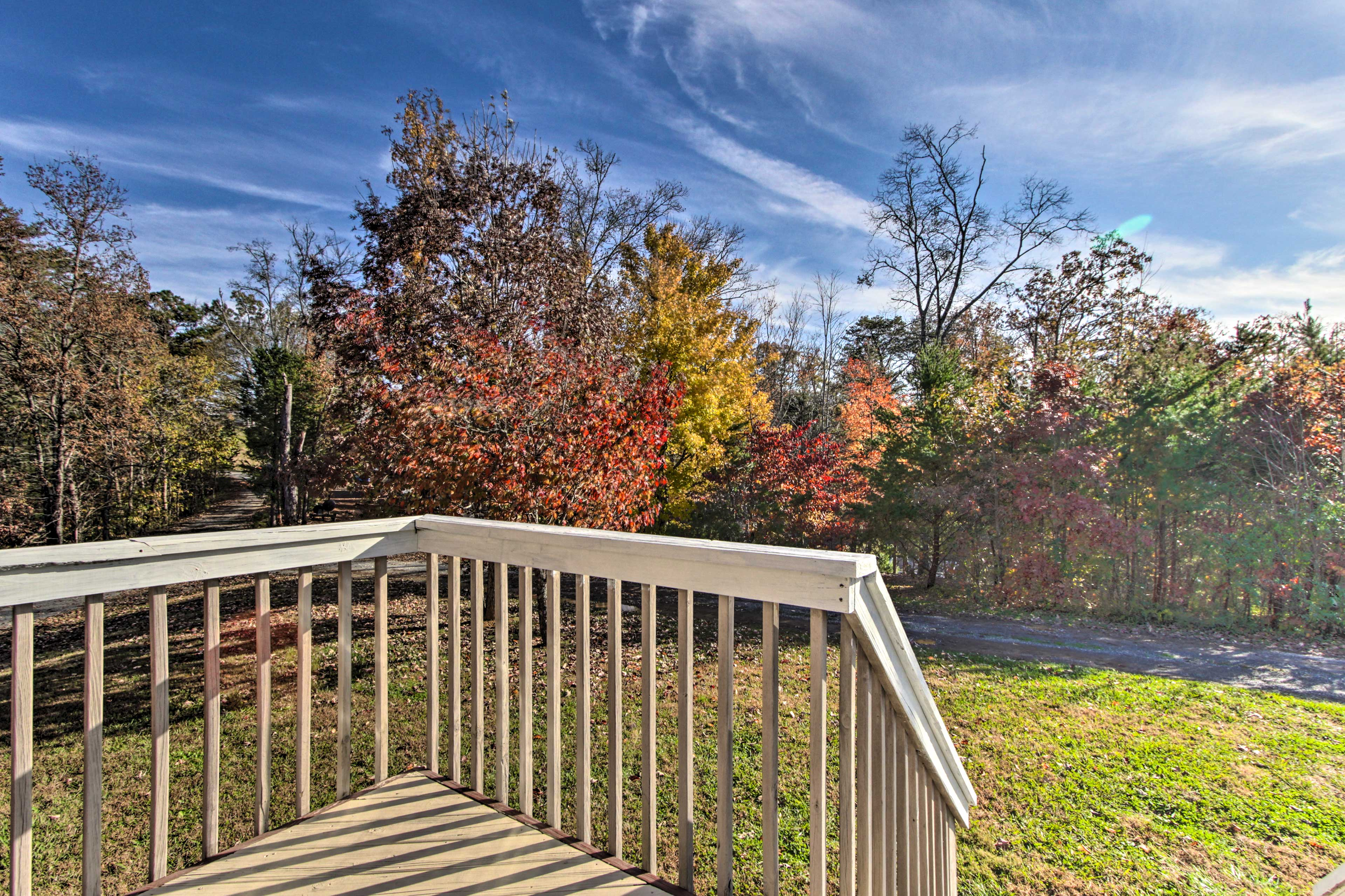 Visit during the fall for the peak foliage color change.