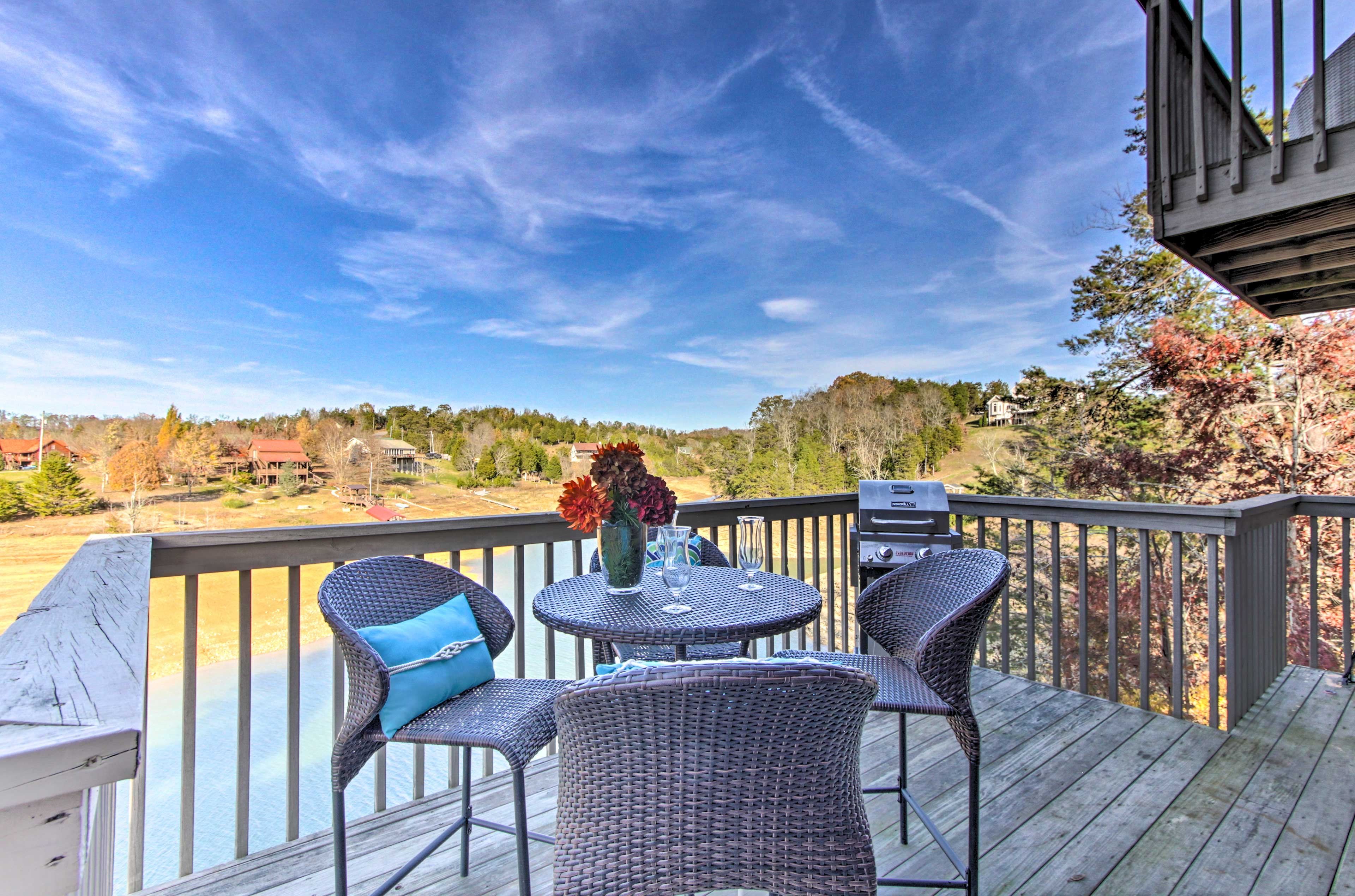 This waterfront dream vacation rental in Sevierville is awaiting your arrival!