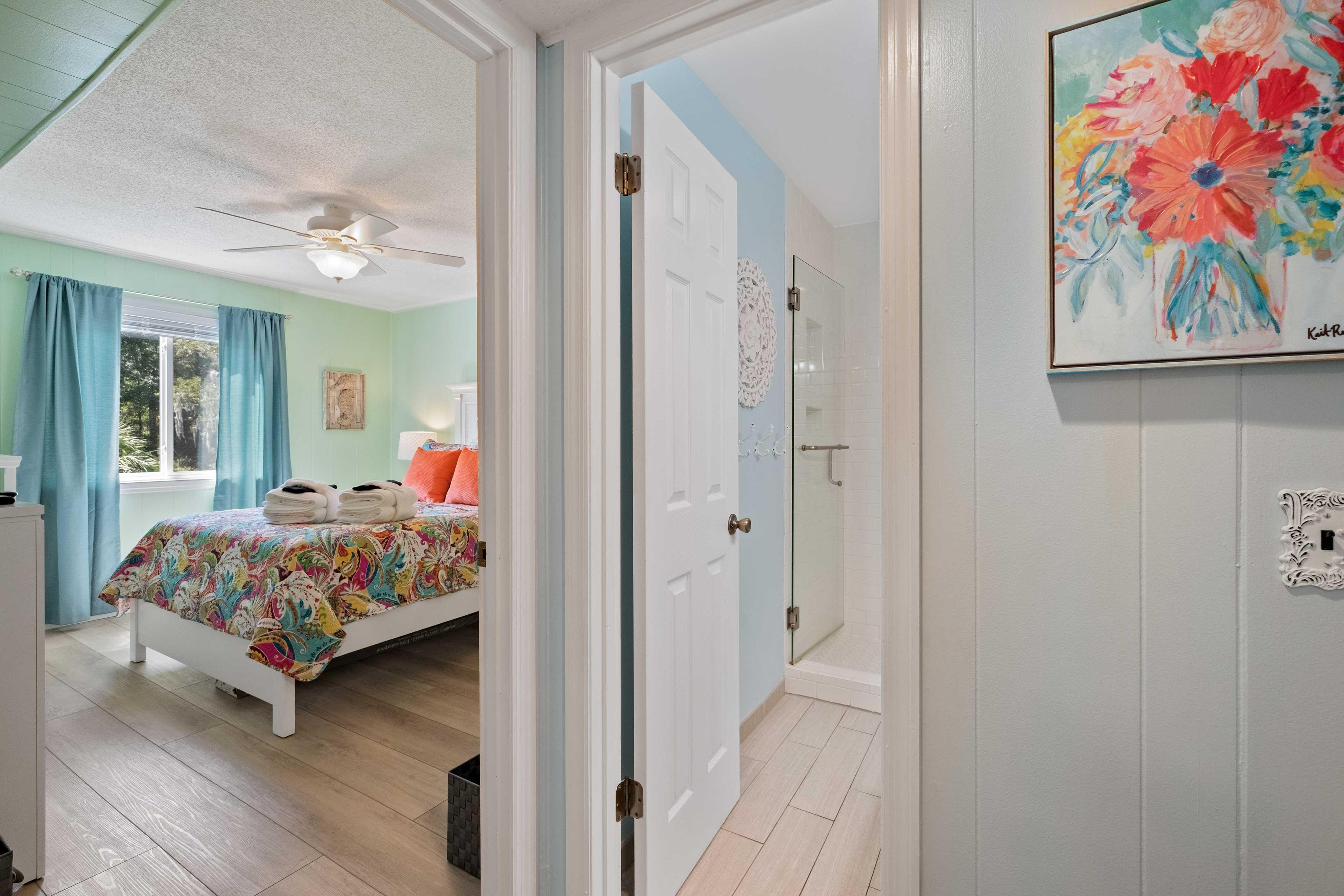 Hallway to Bedroom & Bathroom