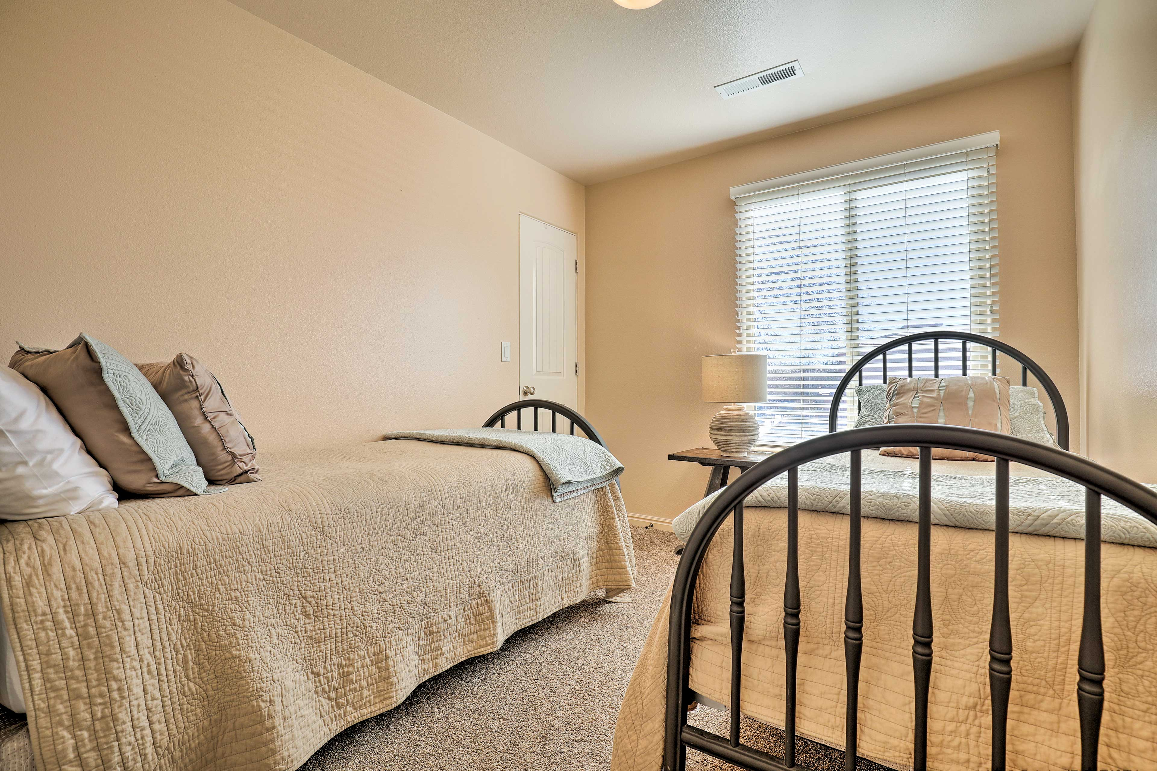 The final bedroom features 2 twins.