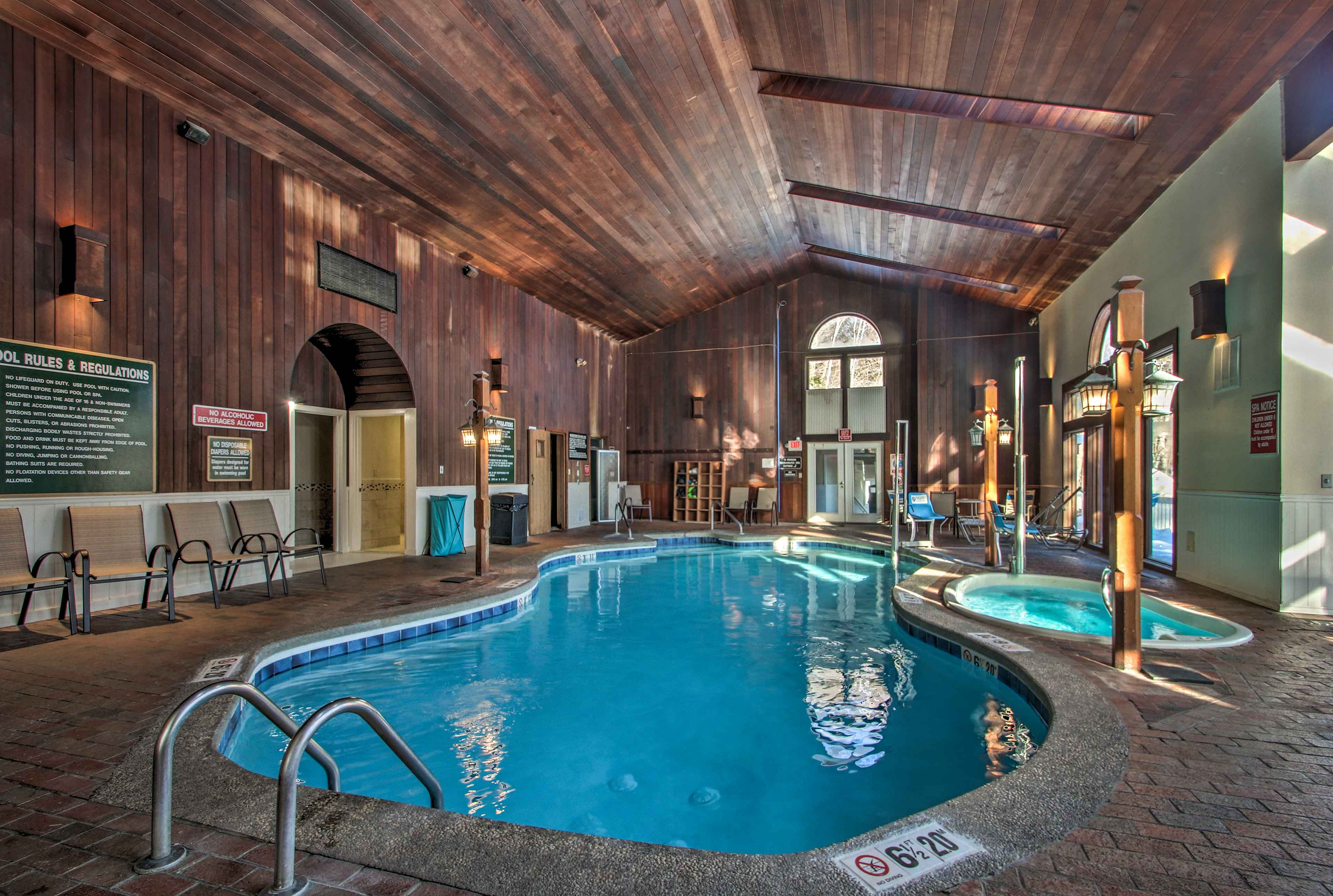 Go for a soak in the hot tub or heated pool.