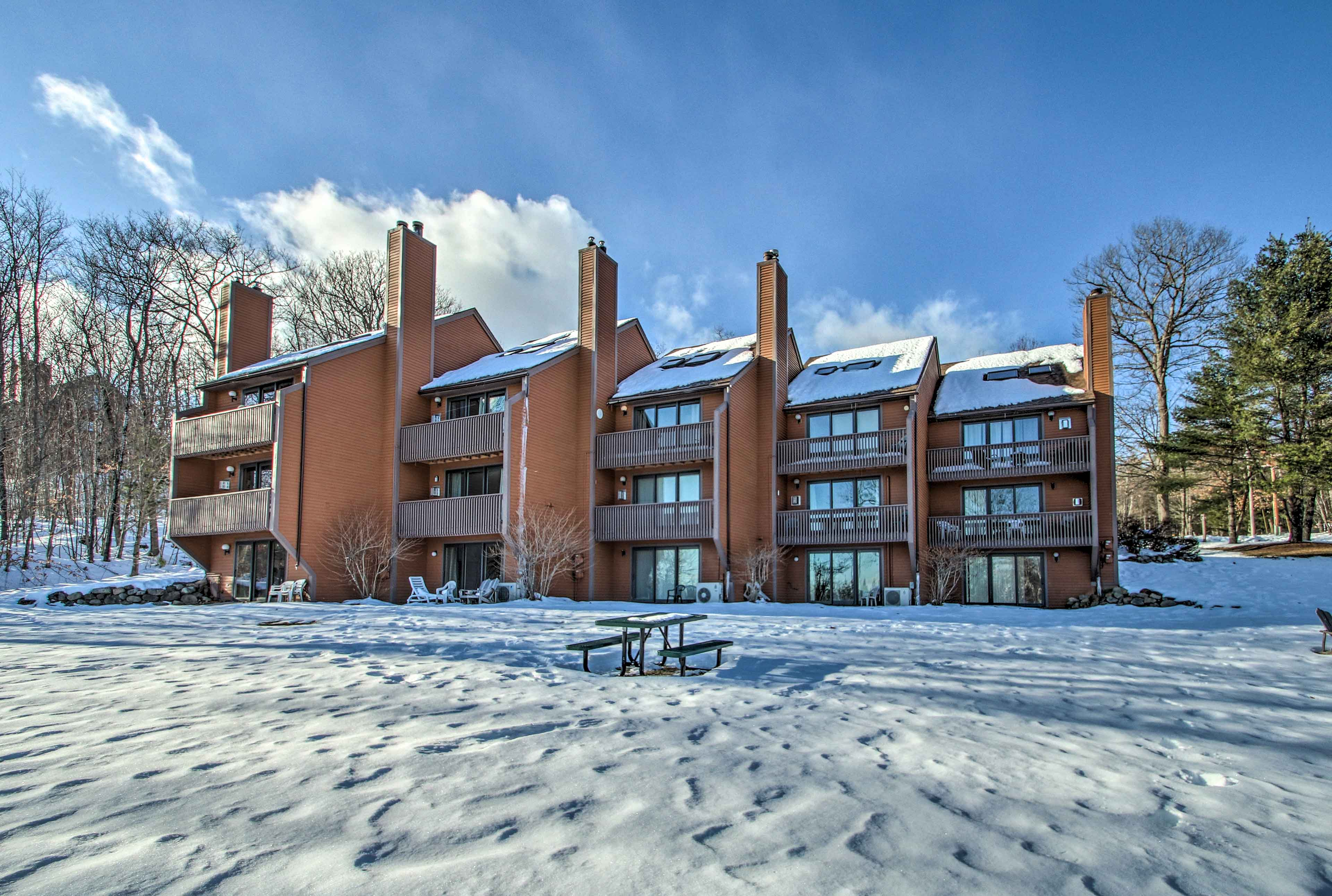 This condo features views of Black Mountain!