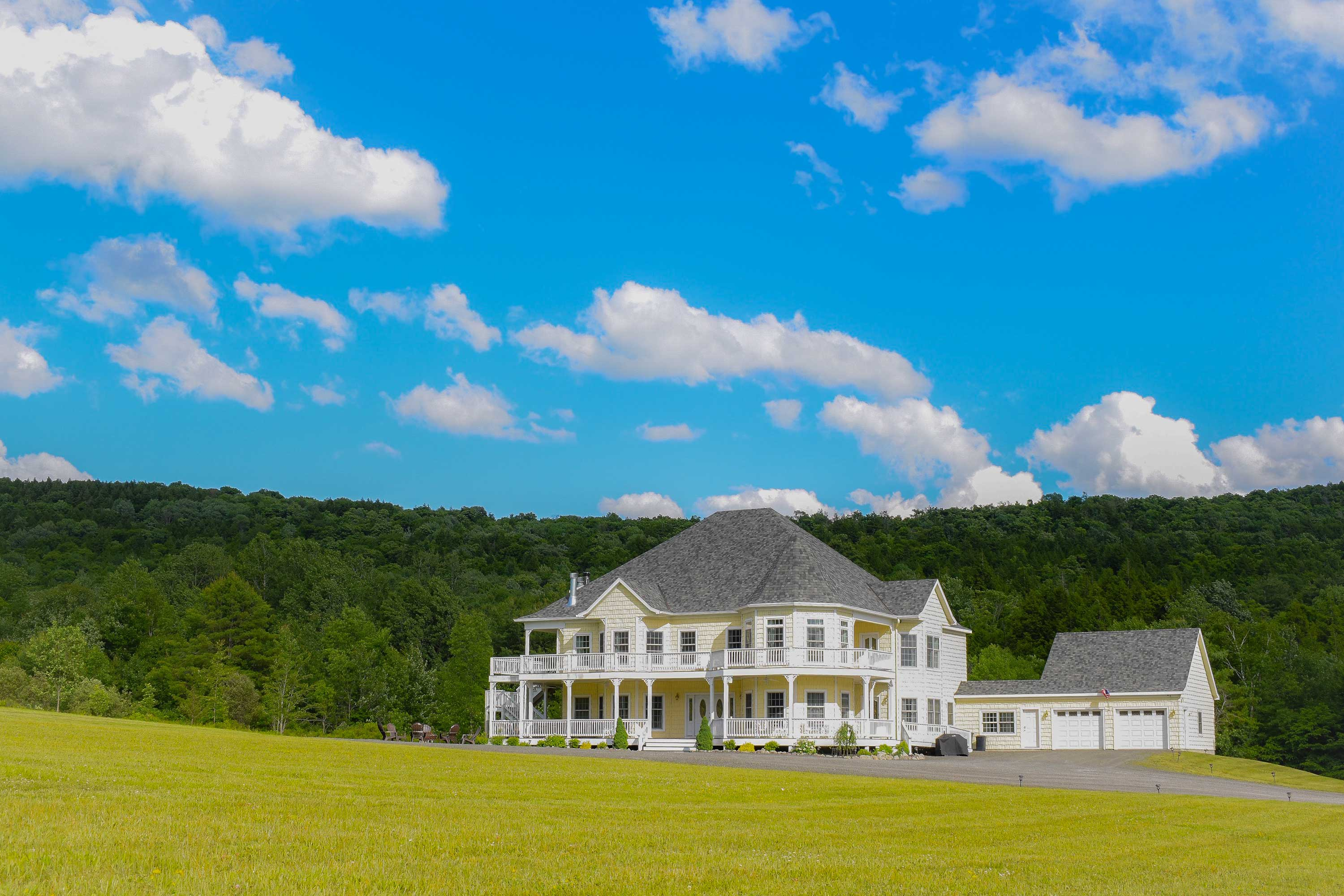 This newly renovated Victorian mansion sits on a gorgeous 45-acre property.
