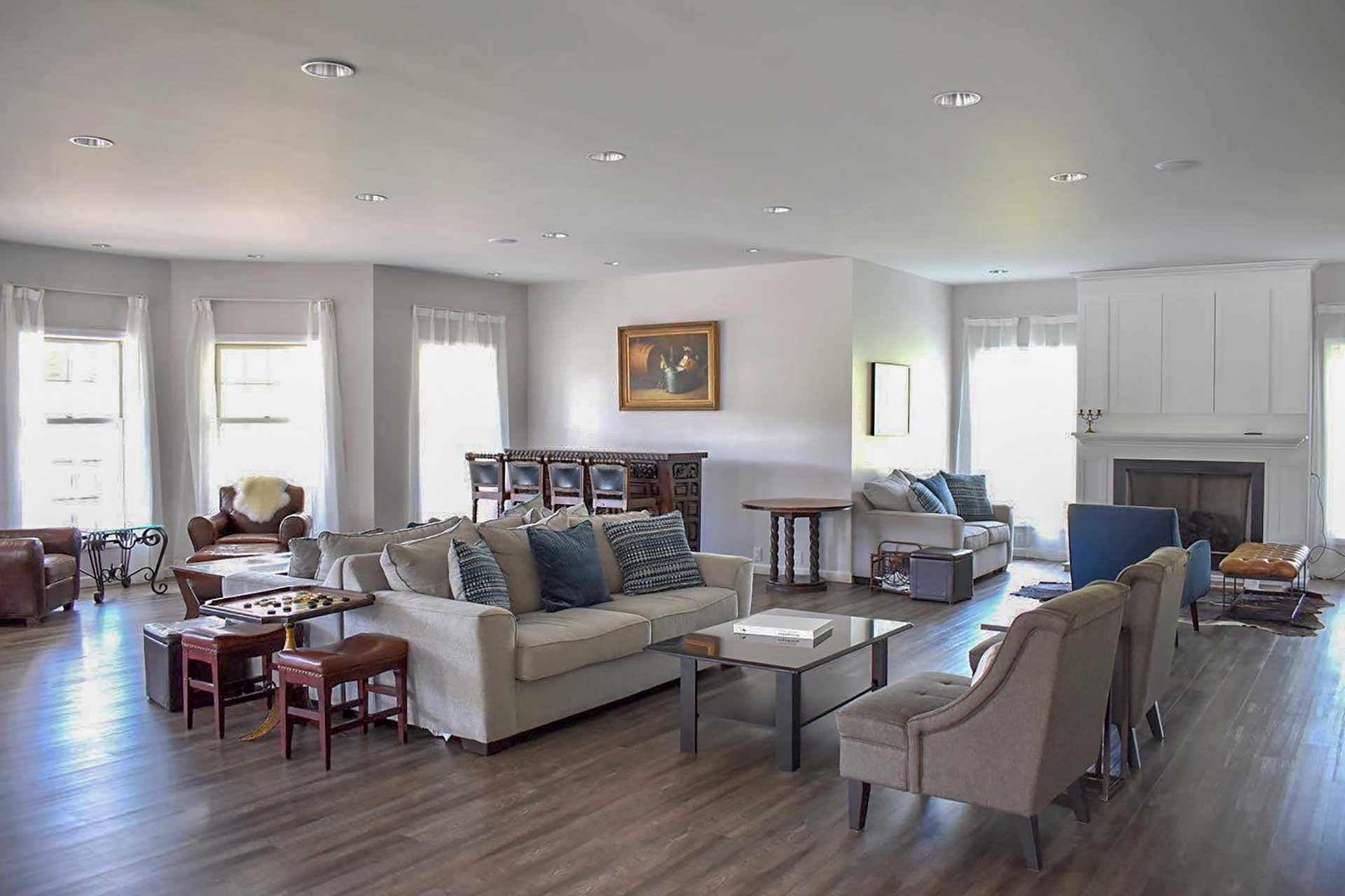 The spacious home provides plenty of room for your large group to spread out.