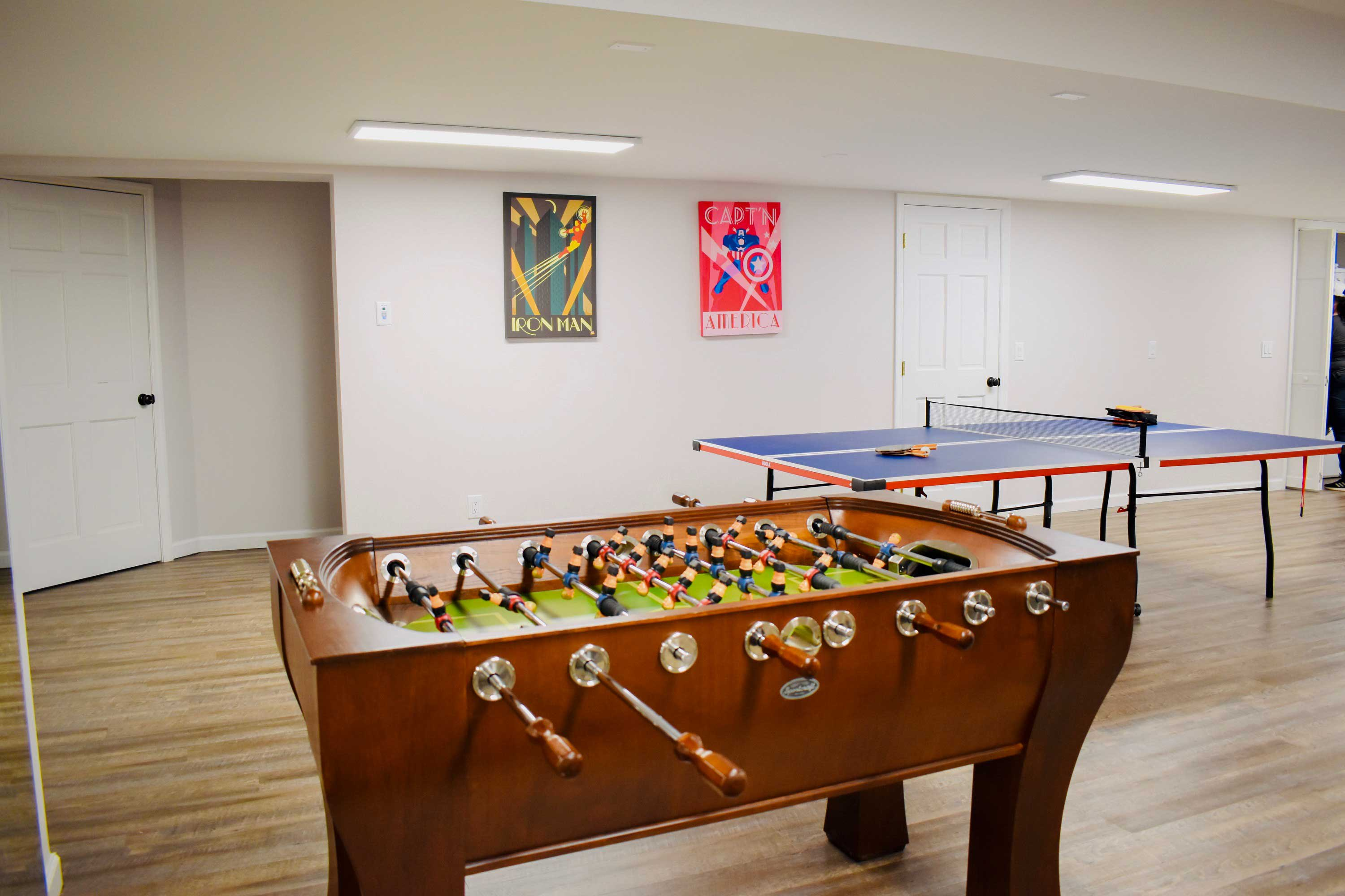 Hang around after your workout for a heart-pumping game of ping pong & foosball!