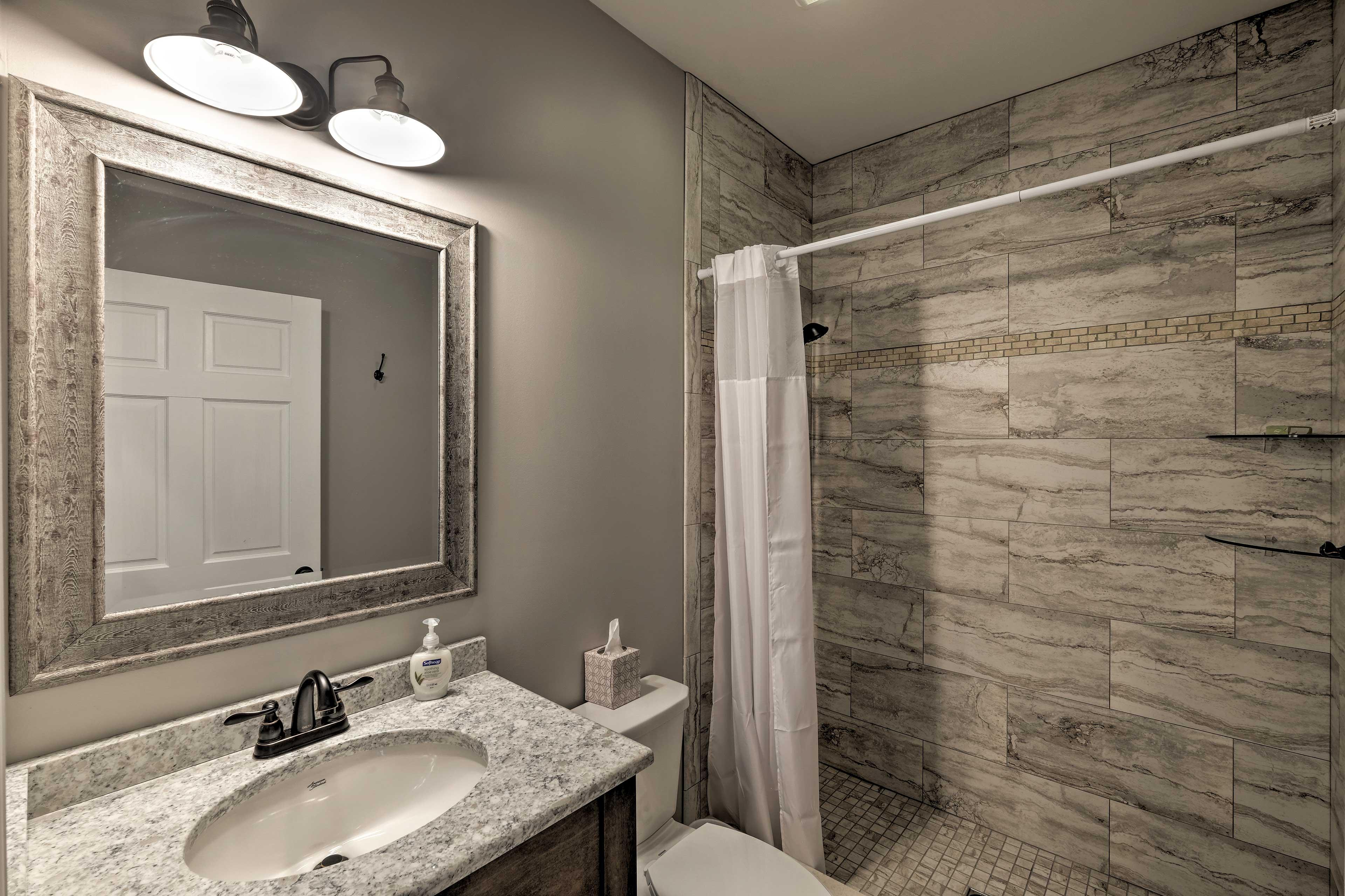 Bathroom 5: walk-in shower