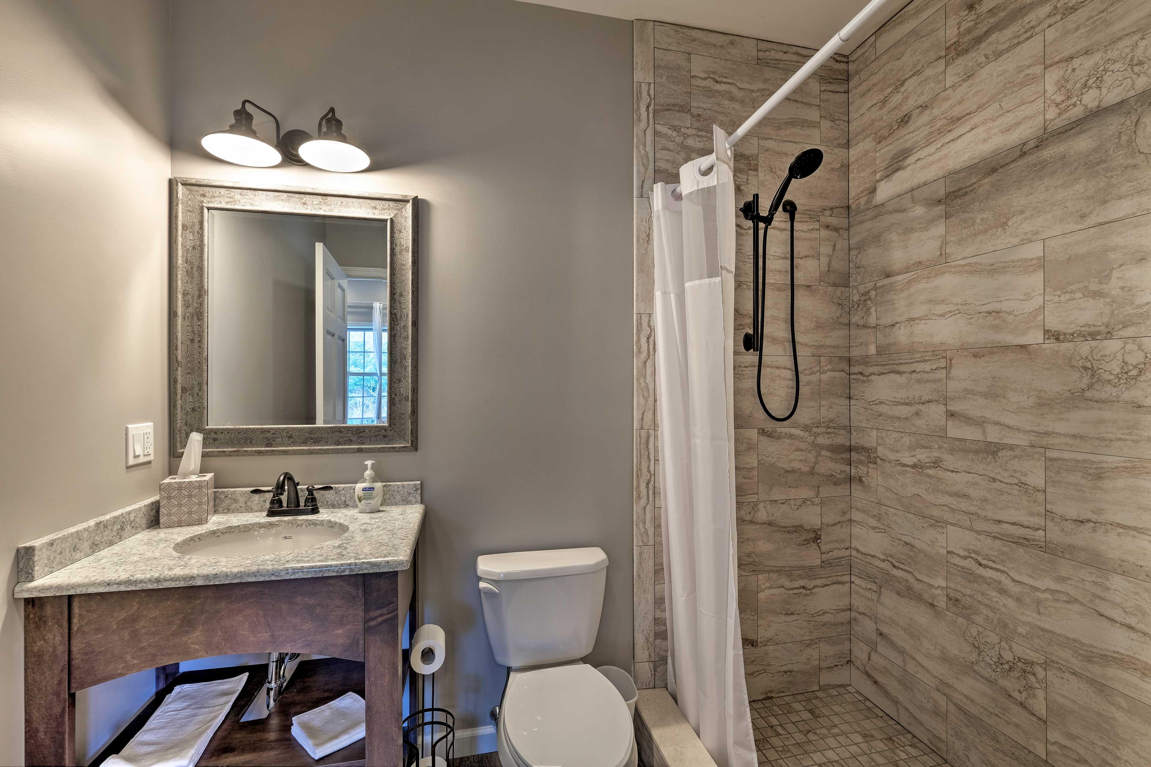 Bathroom 6: walk-in shower