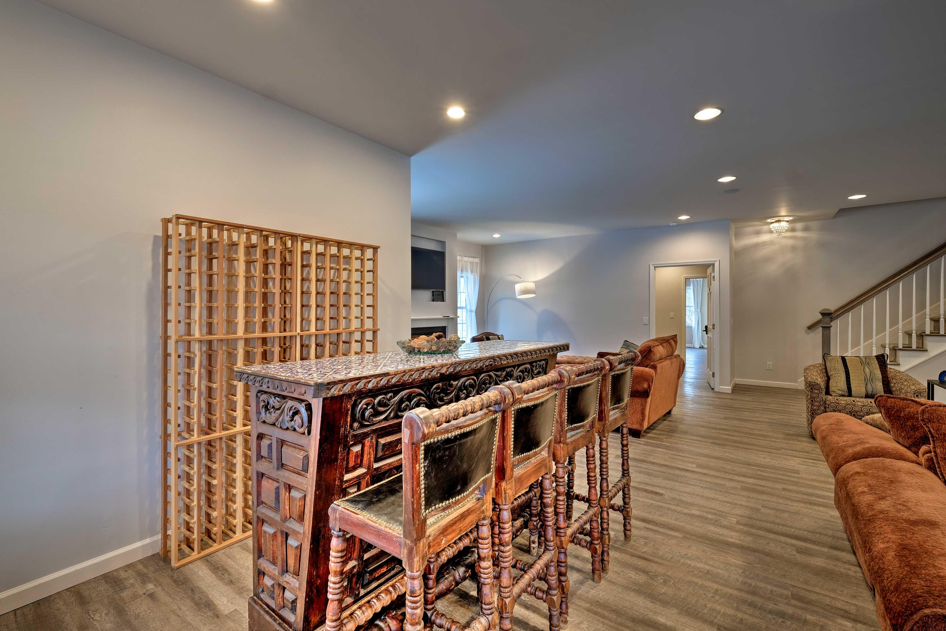 Grab a seat at this incredible, intricate bar.
