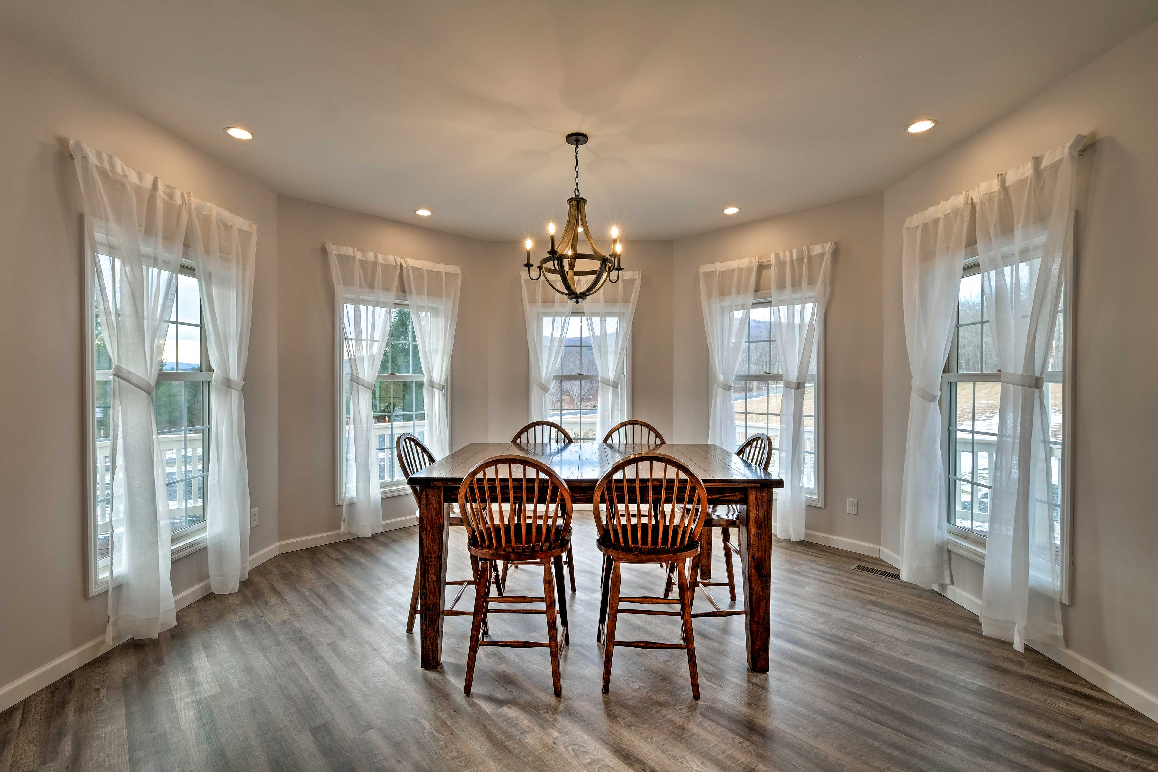 You'll find ample picture windows throughout the house, providing tons of light.