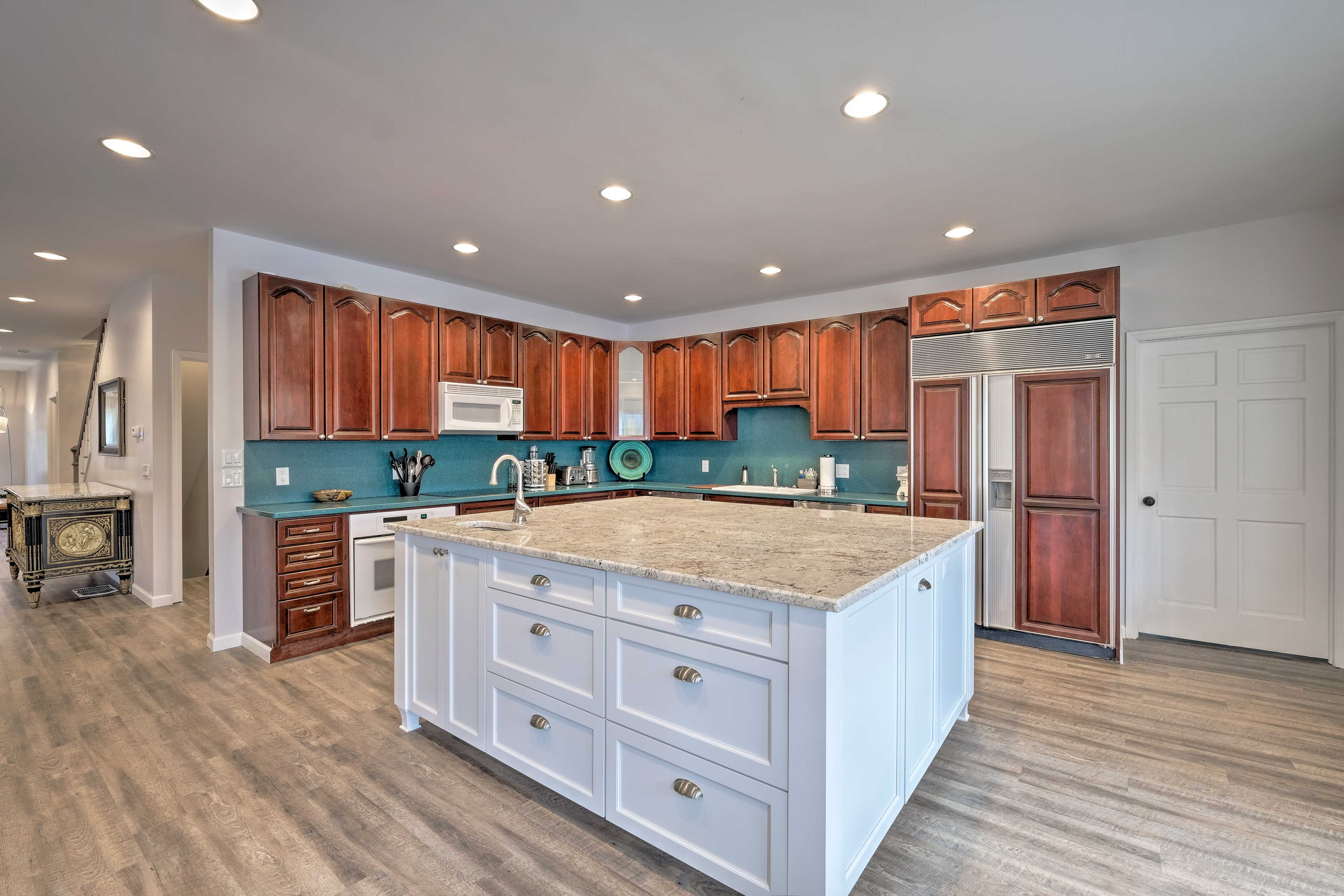 Practice your cooking skills in this large fully equipped kitchen.