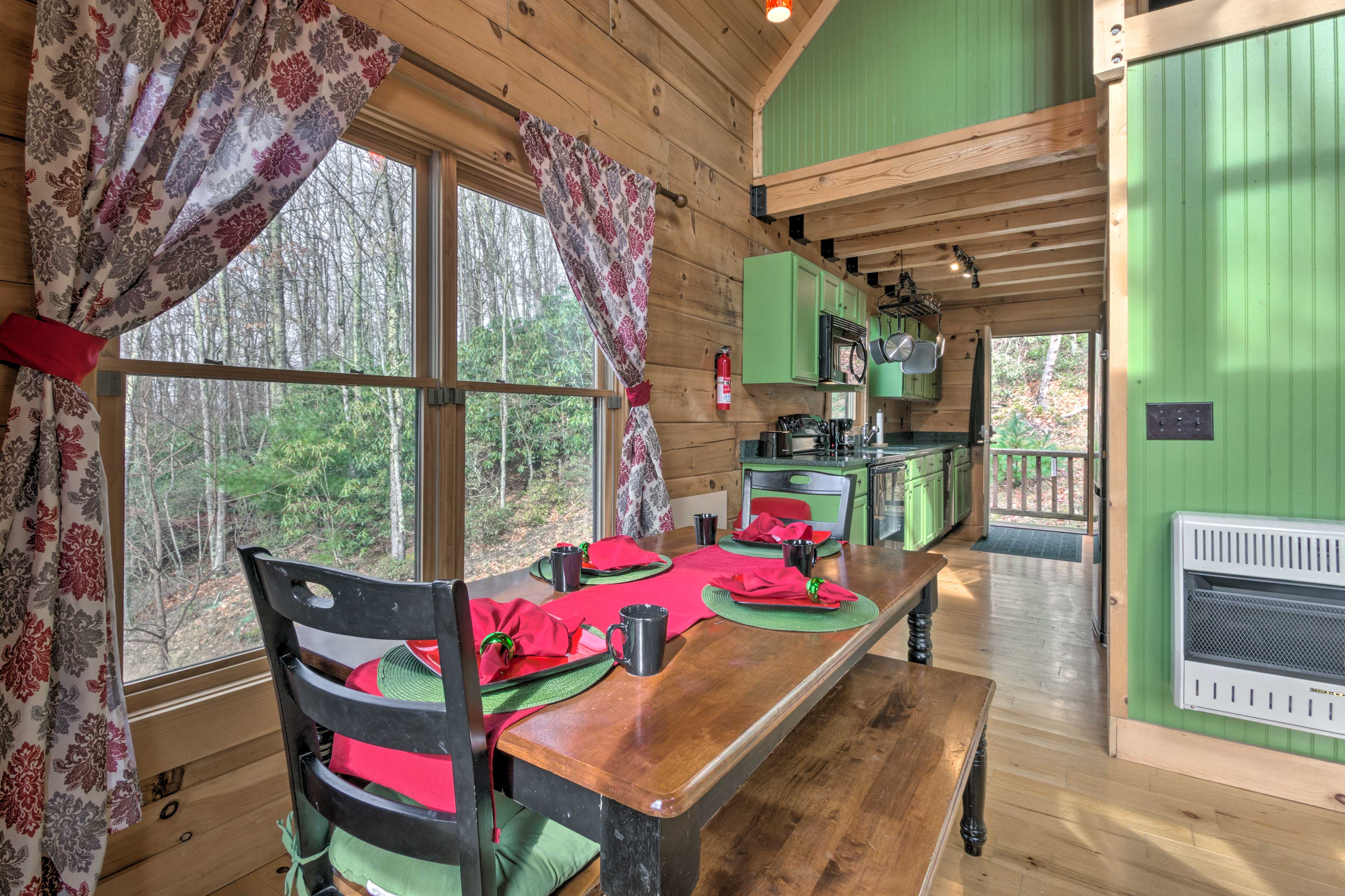 The tranquil setting will elevate your meals!