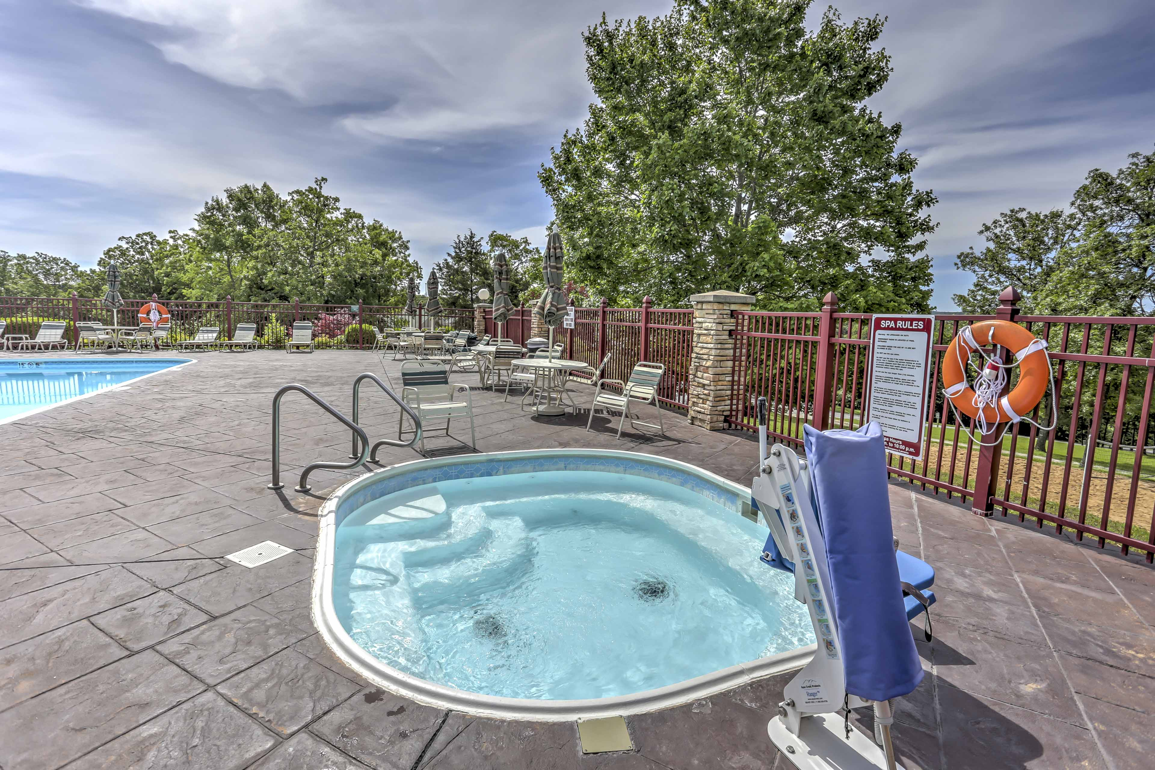 Soak in the on-site hot tub.