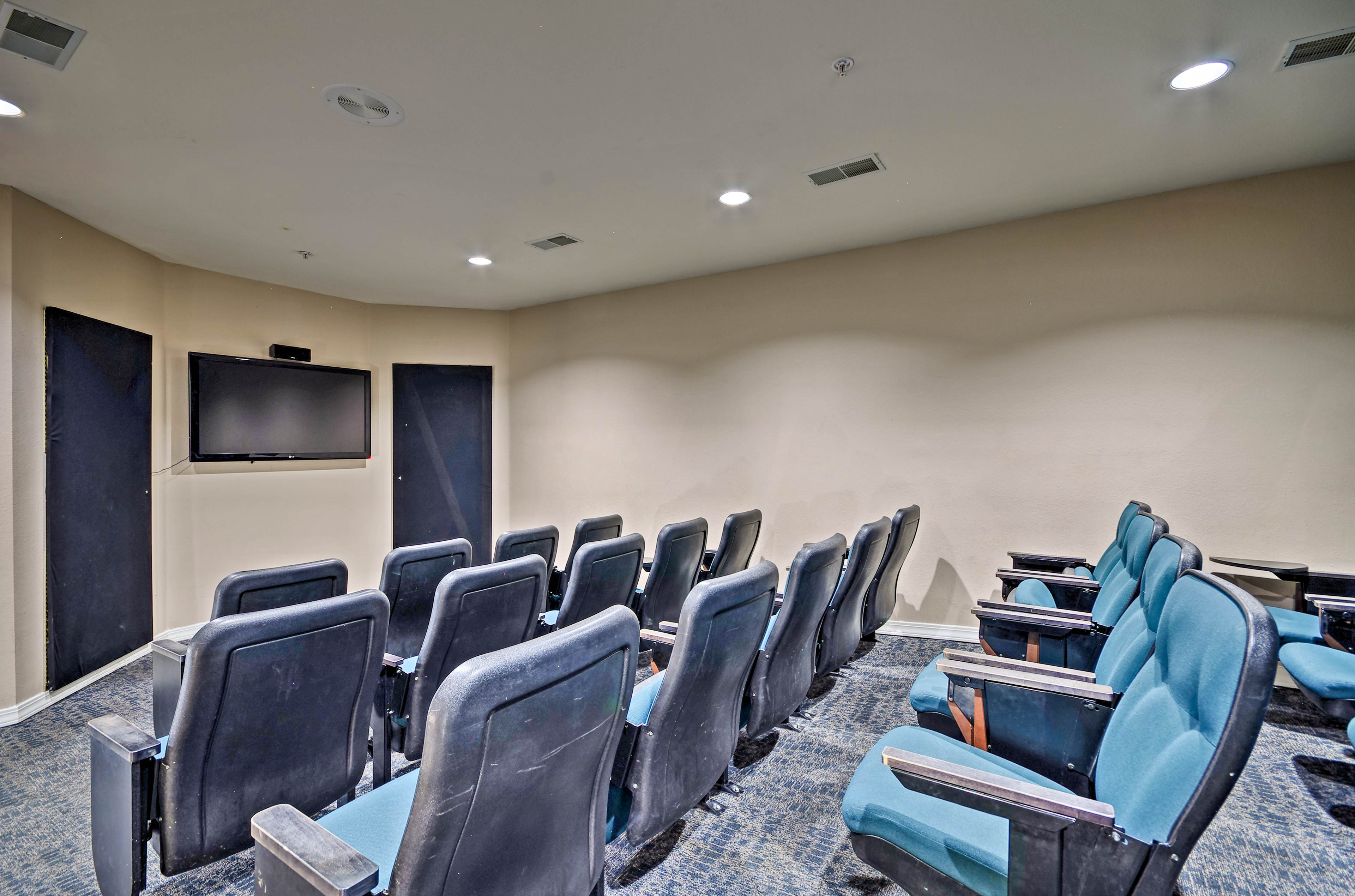 Sit back and enjoy a movie in the theater room.
