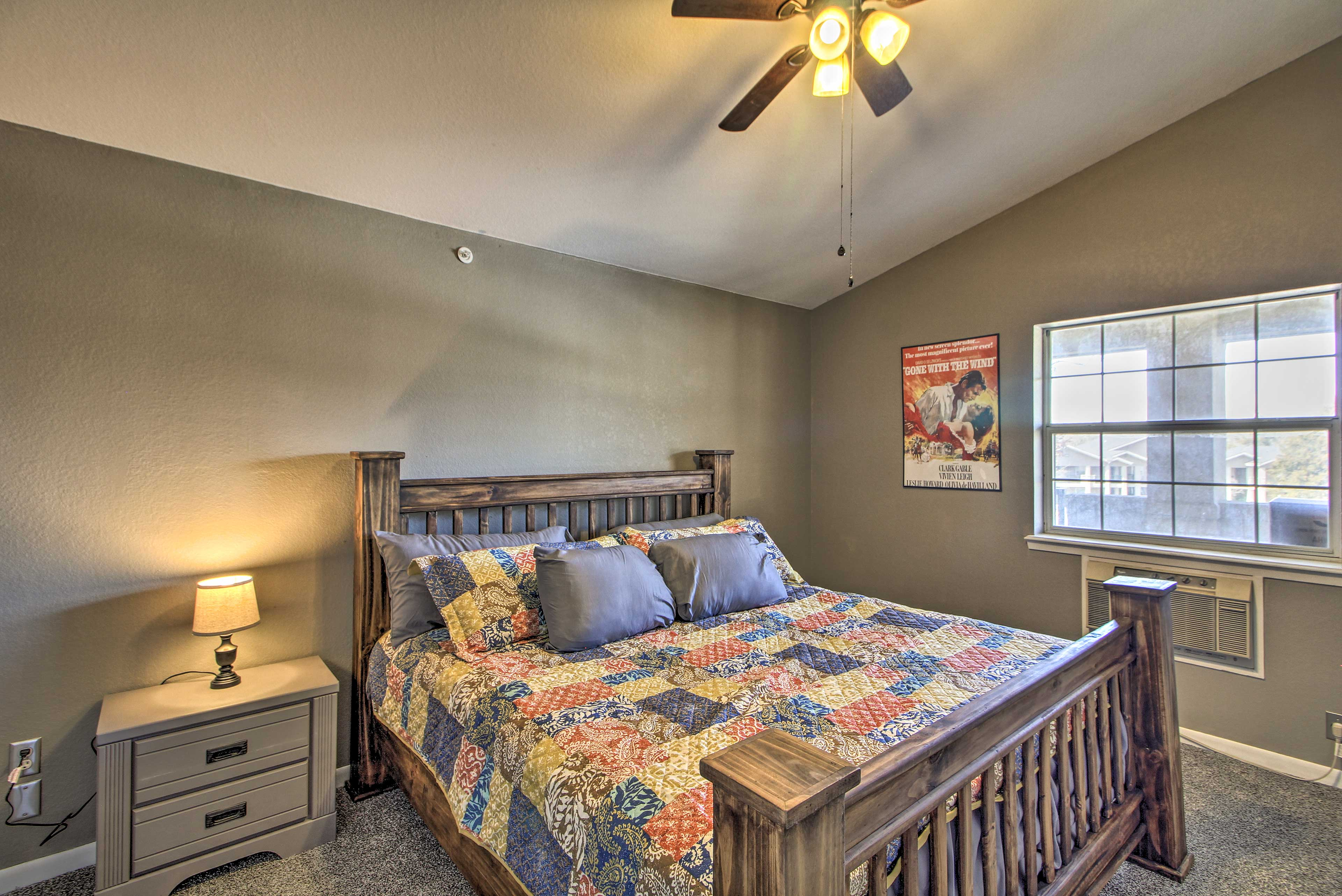 Couples will love the second bedroom, complete with a queen bed.