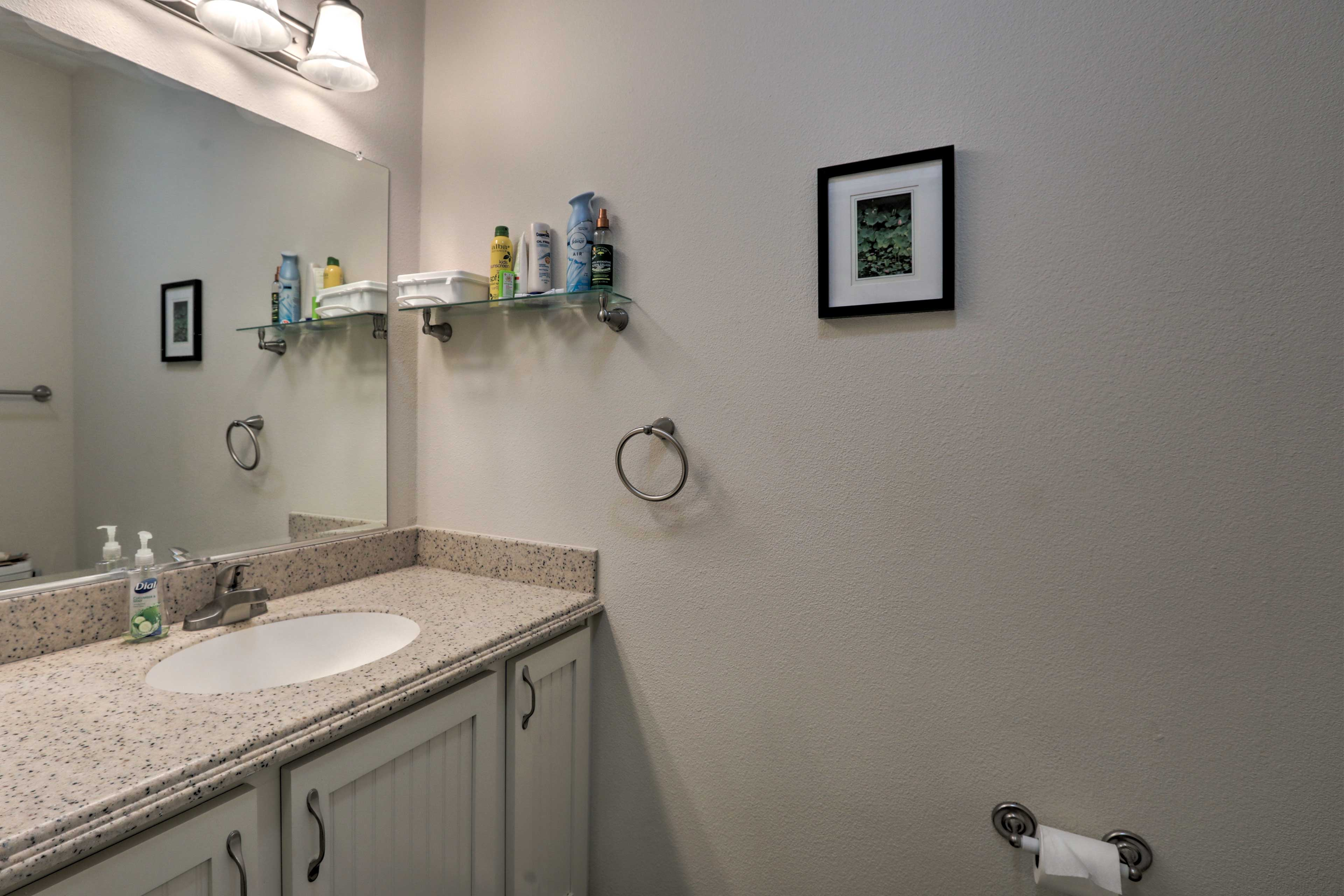 With 3.5 bathrooms, there's plenty of space to get ready for the day.