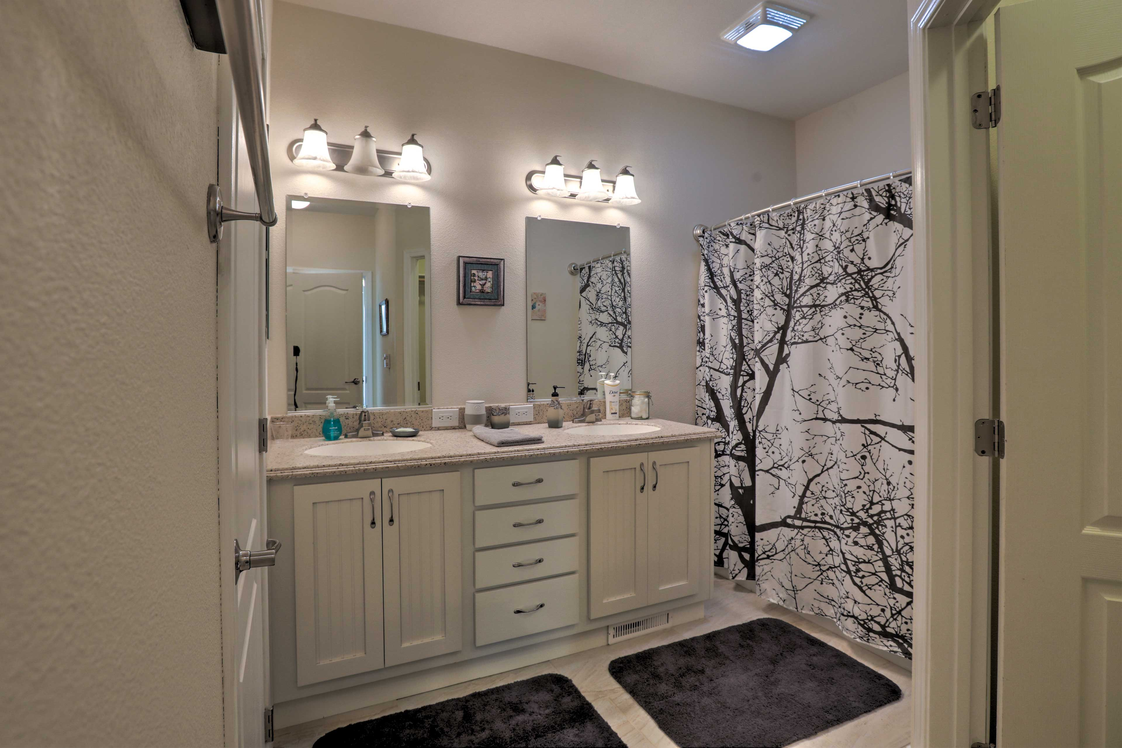 Double vanities are a welcome sight!