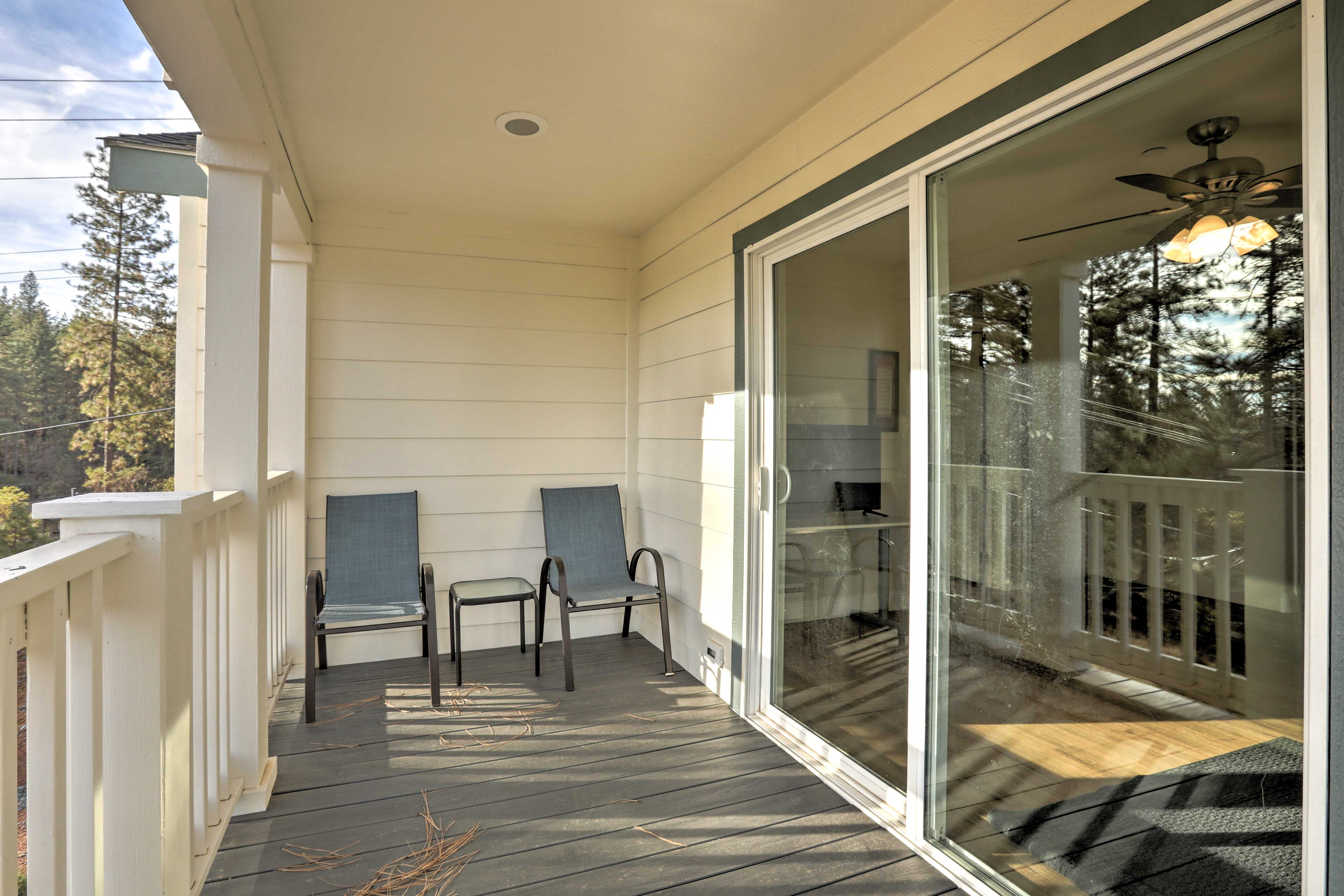Sip your morning coffee in the sun on the balcony.